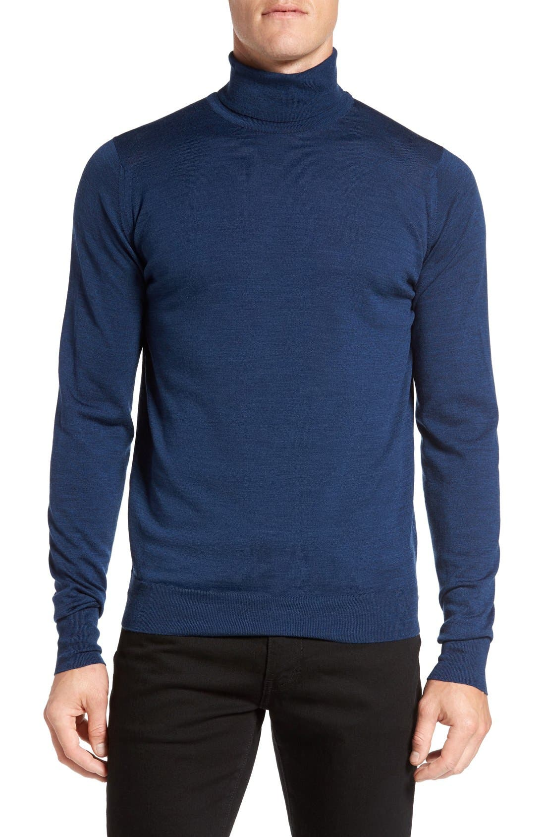 'Richards' Easy Fit Turtleneck Wool Sweater,                             Main thumbnail 8, color,