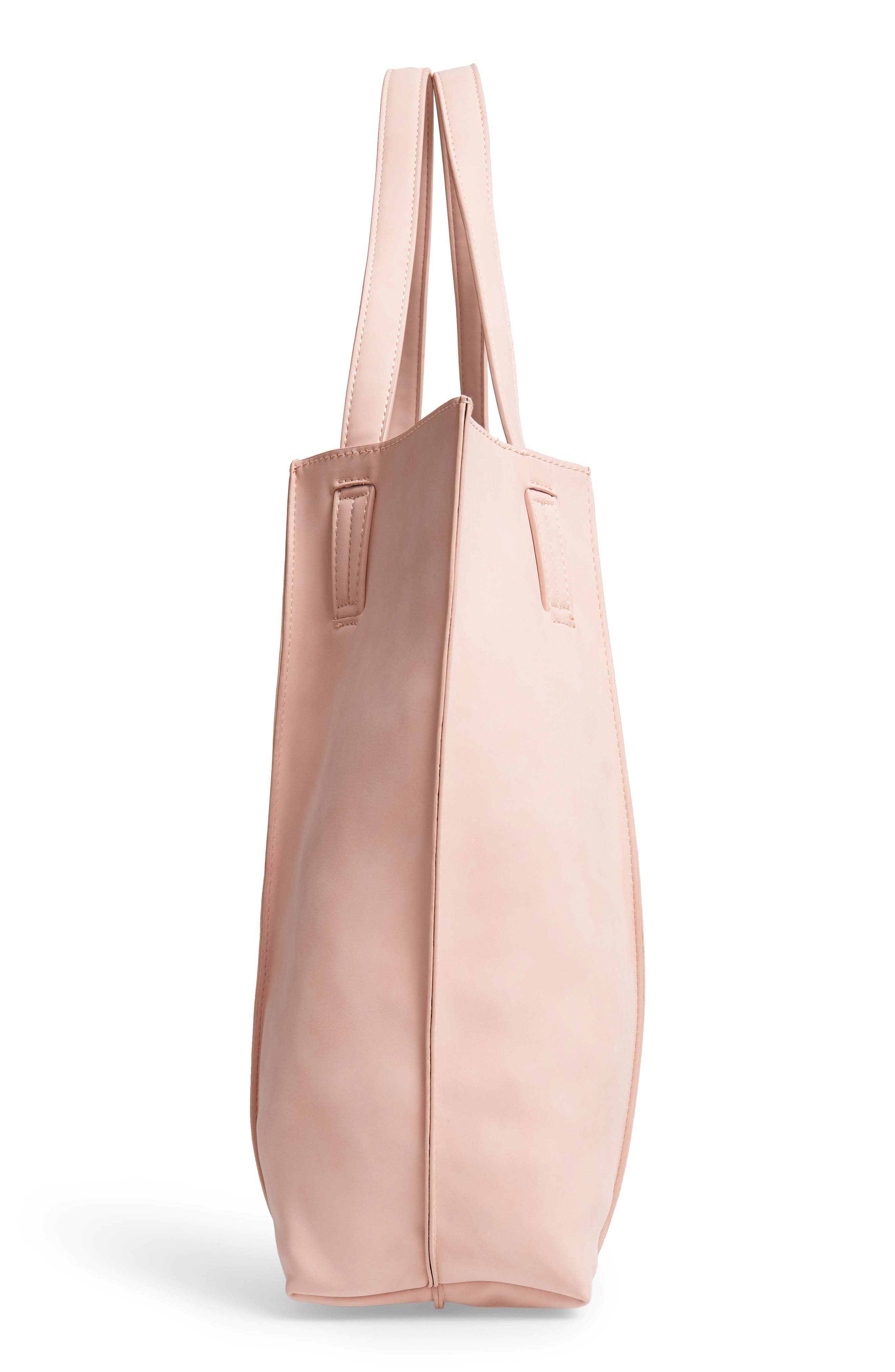 Blair Faux Leather Tote,                             Alternate thumbnail 5, color,                             BLUSH