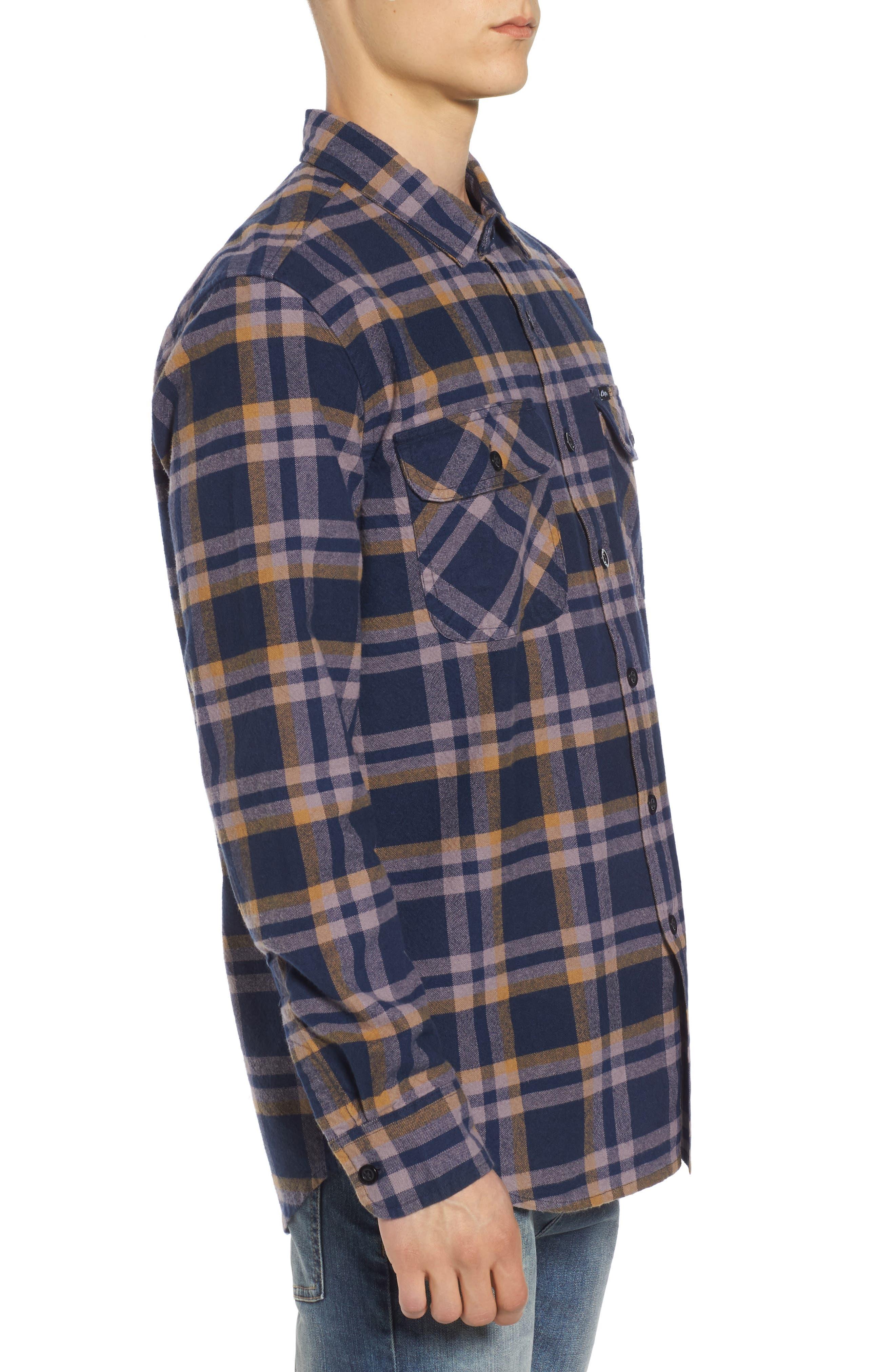 Plaid Flannel Shirt,                             Alternate thumbnail 3, color,                             482