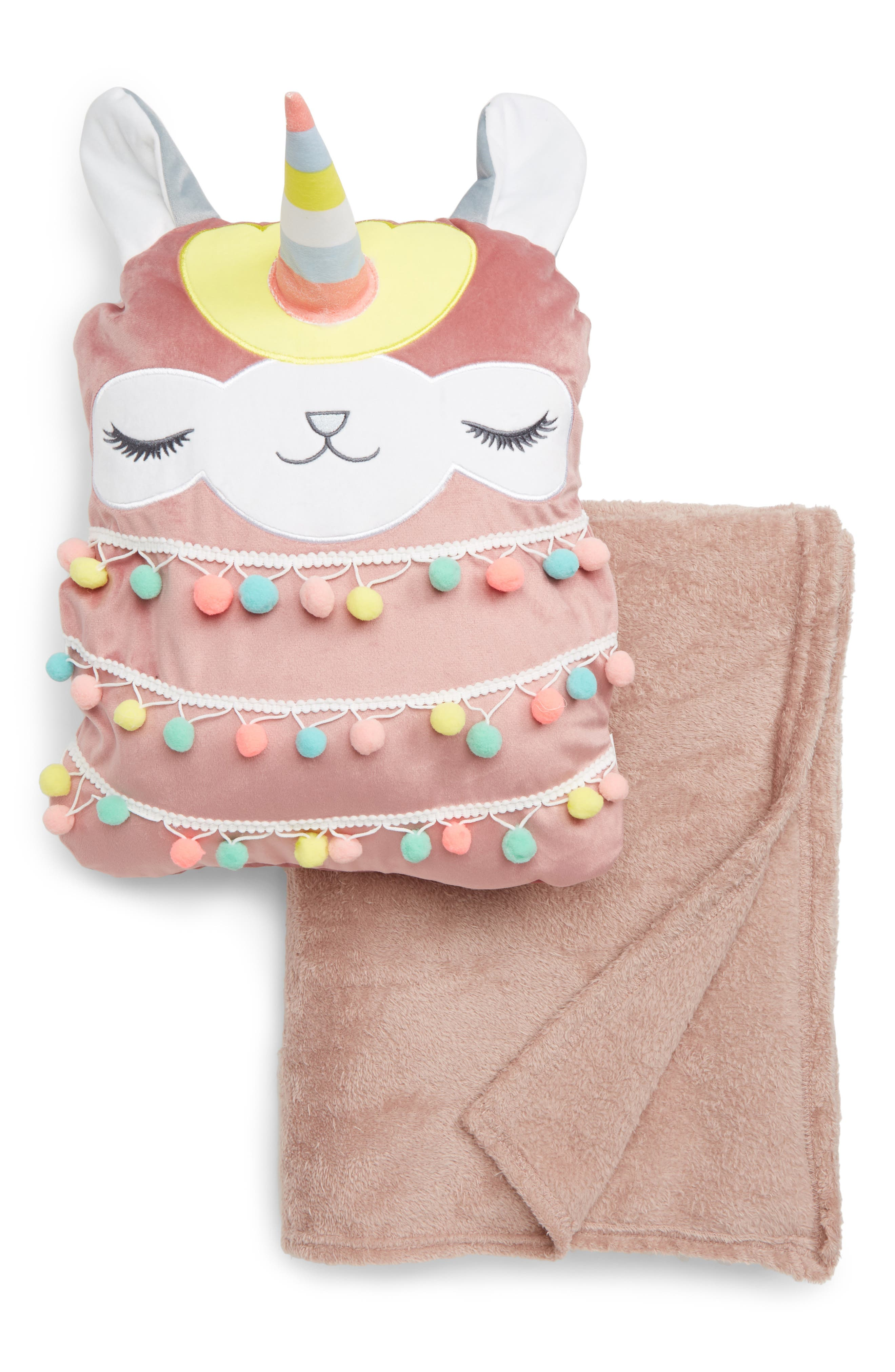 Under One Sky Critter Pillow  Throw Set Size One Size  Pink