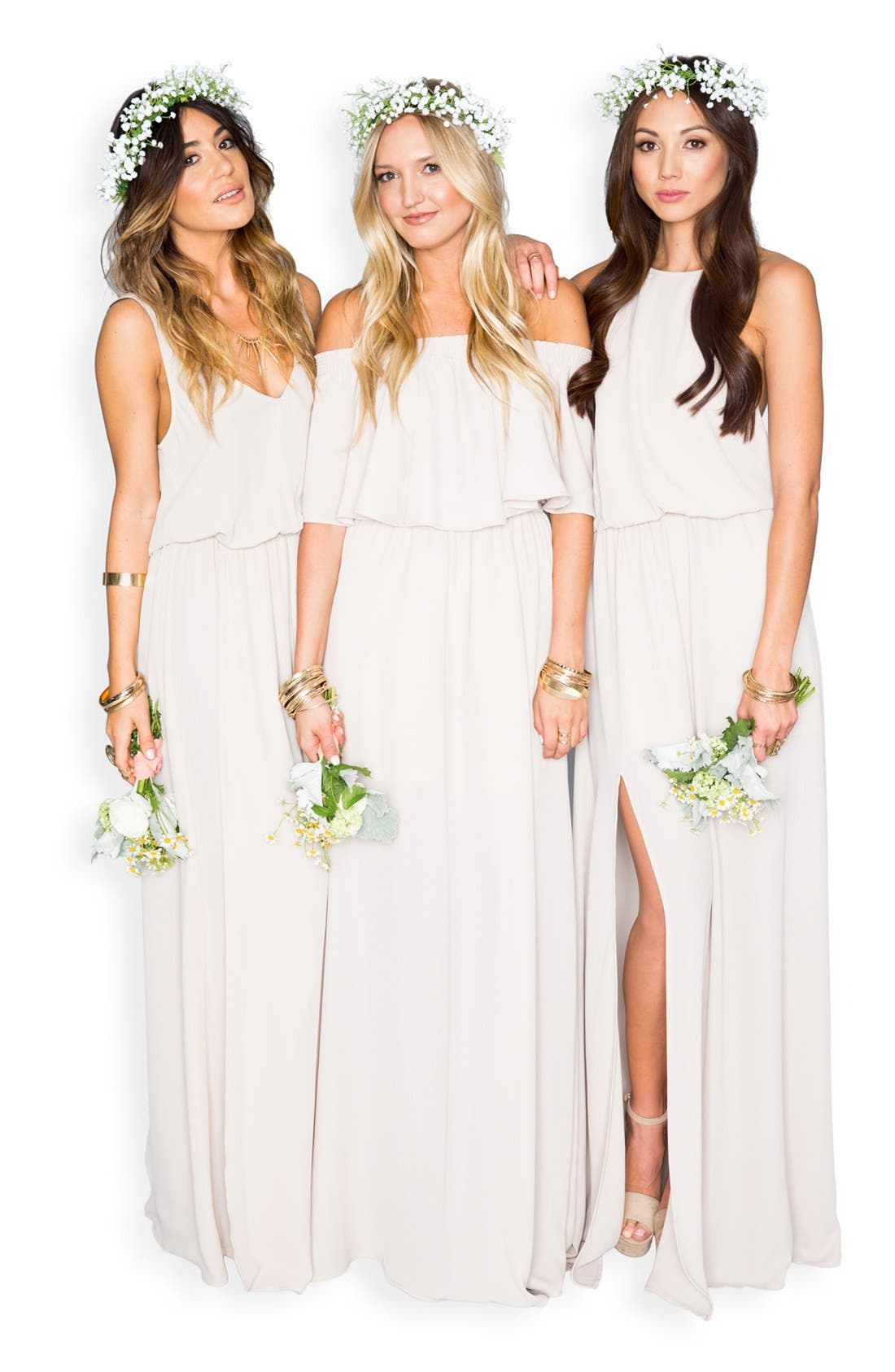 Heather Chiffon Halter Gown,                             Alternate thumbnail 17, color,