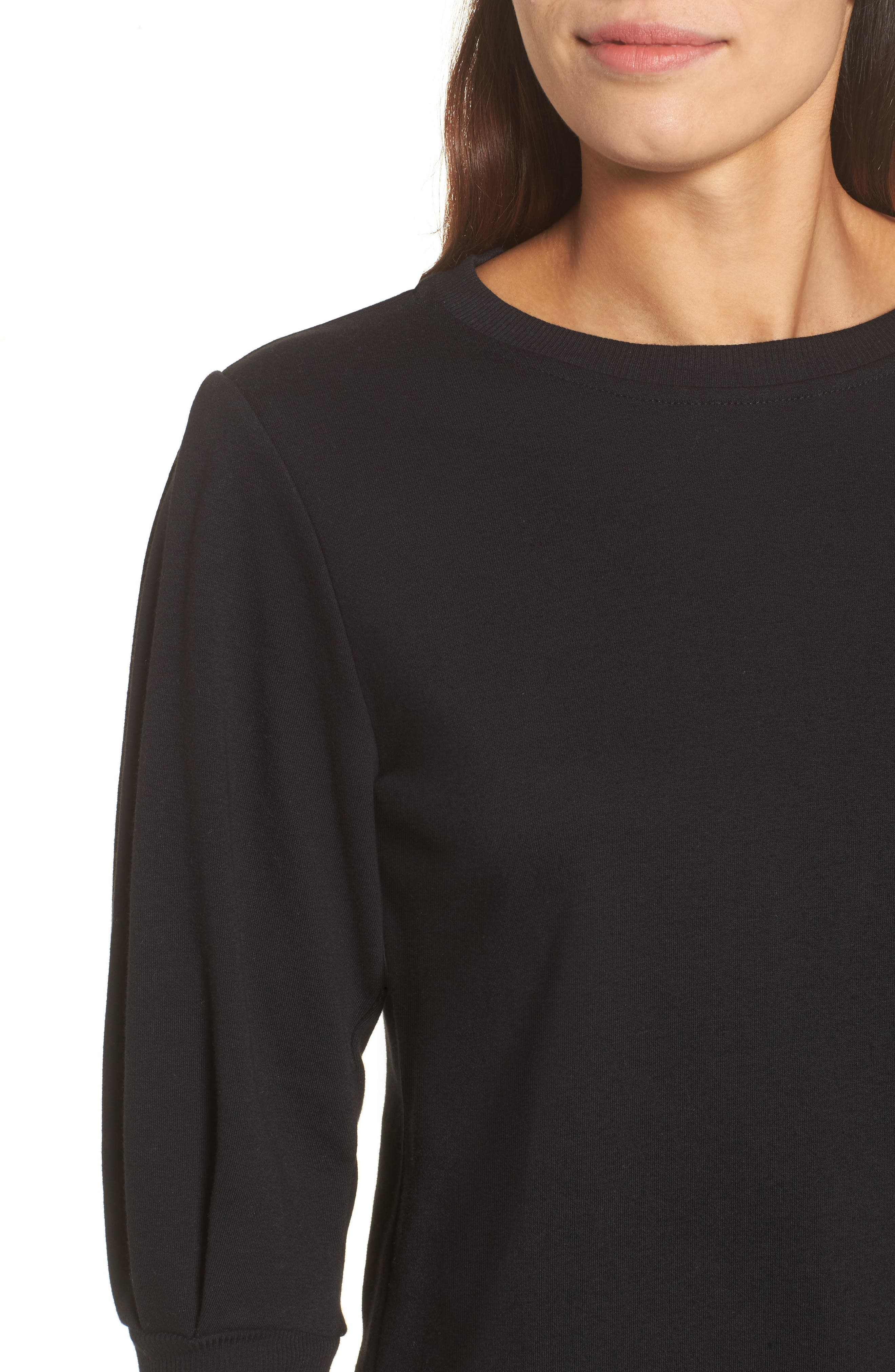 Blouson Sleeve Sweatshirt,                             Alternate thumbnail 4, color,                             001