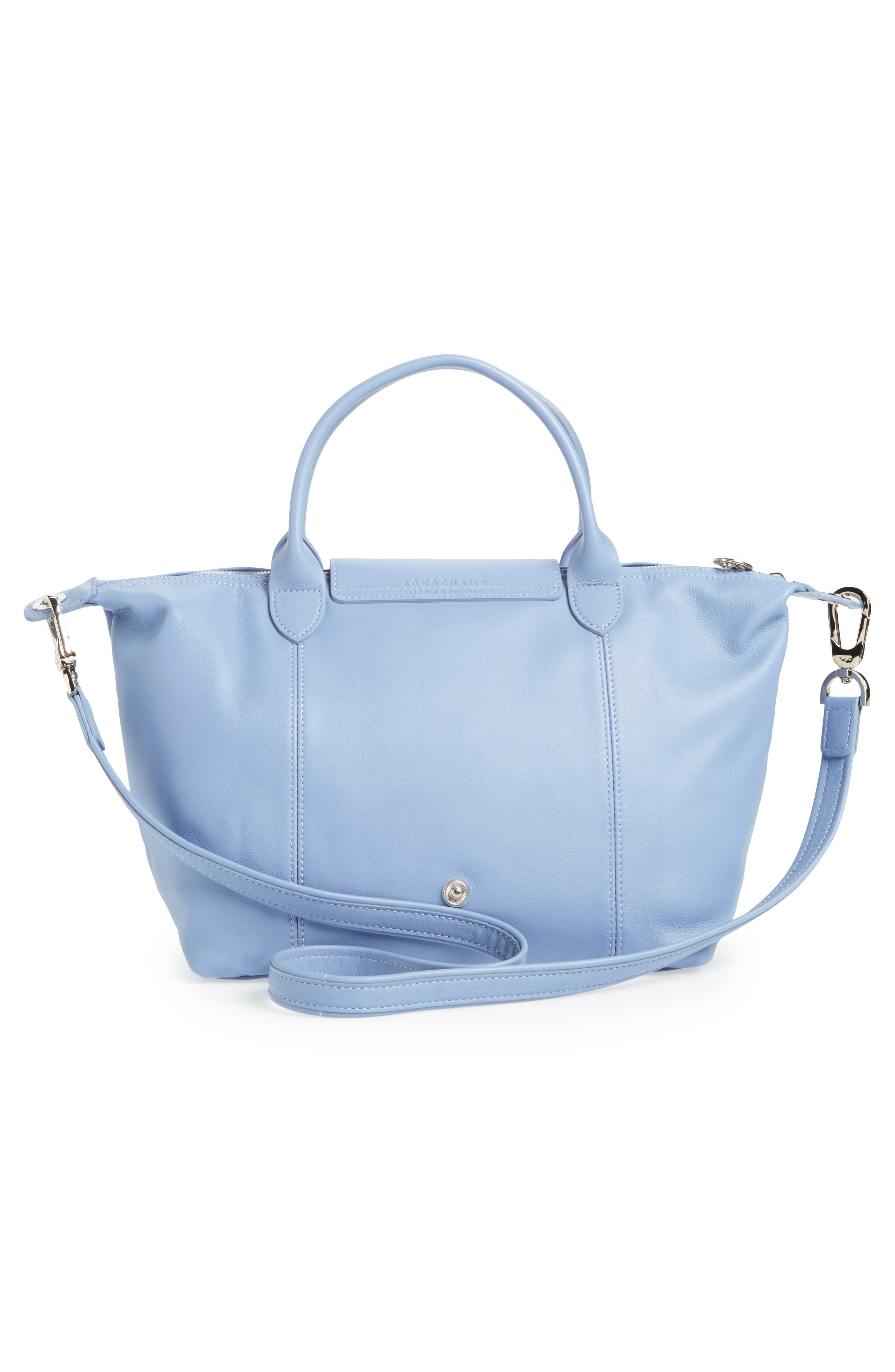 Small 'Le Pliage Cuir' Leather Top Handle Tote,                             Alternate thumbnail 52, color,