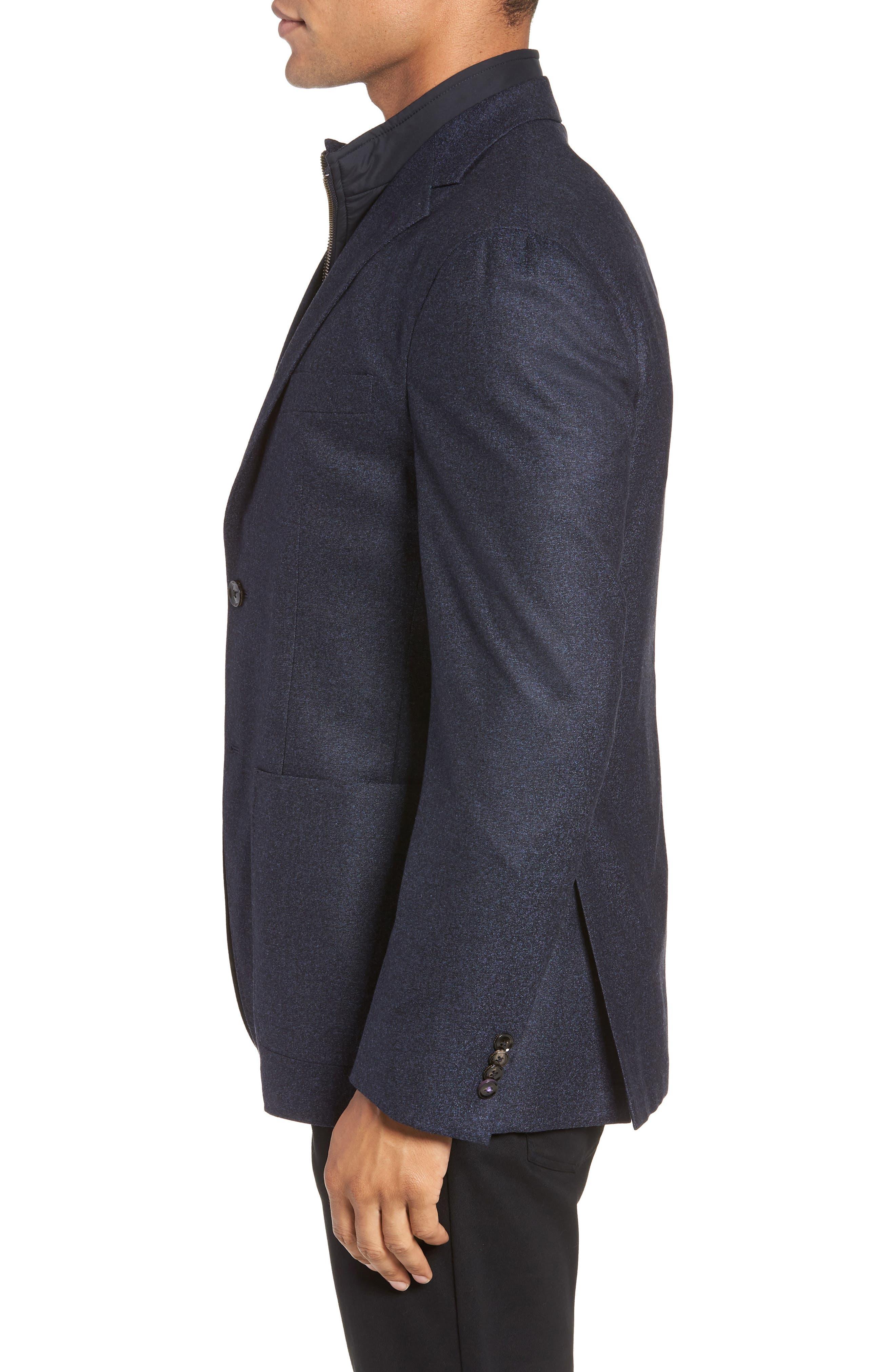 Tucker Trim Fit Wool Blazer,                             Alternate thumbnail 3, color,                             BLUE