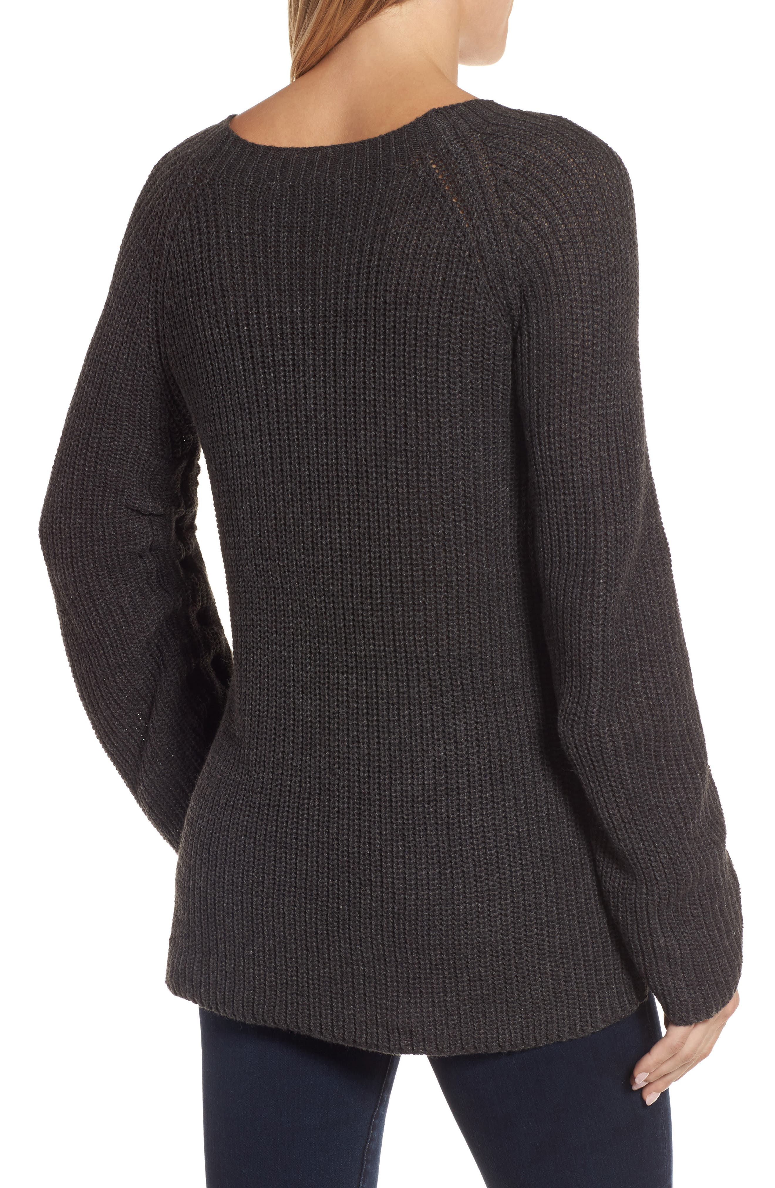 RD Style Tie Sleeve Sweater,                             Alternate thumbnail 3, color,