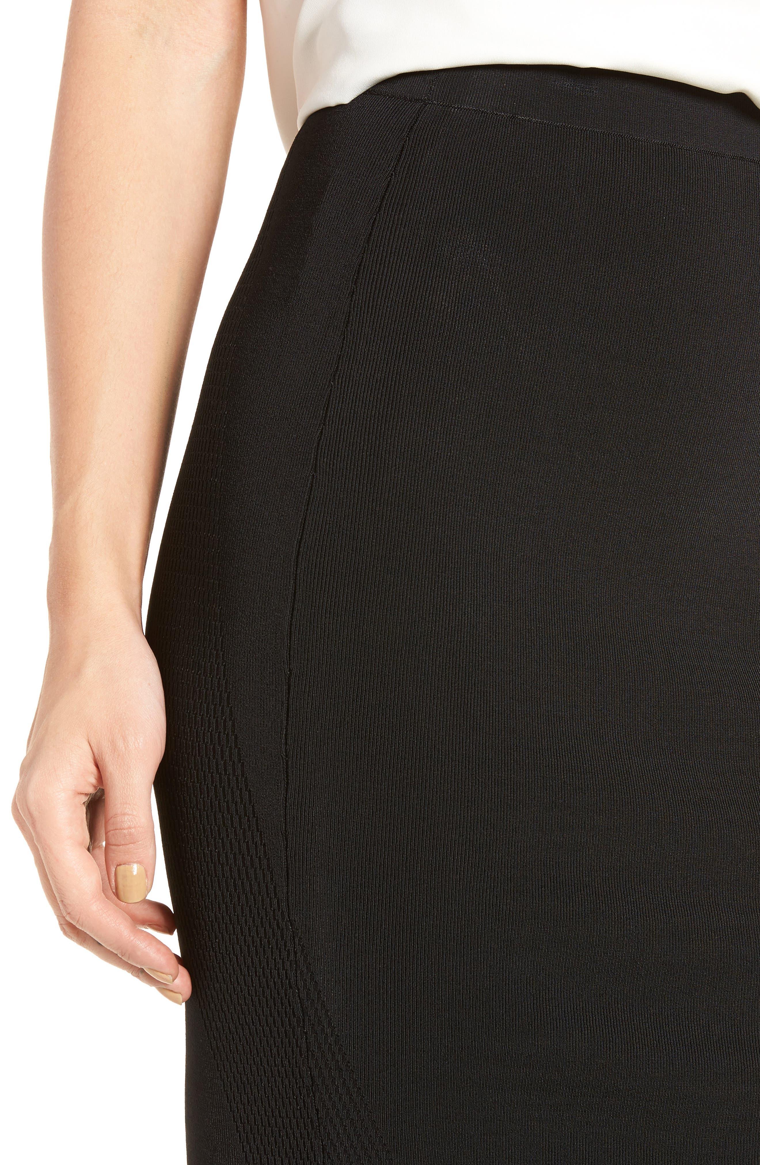 Sweater Pencil Skirt,                             Alternate thumbnail 4, color,                             001