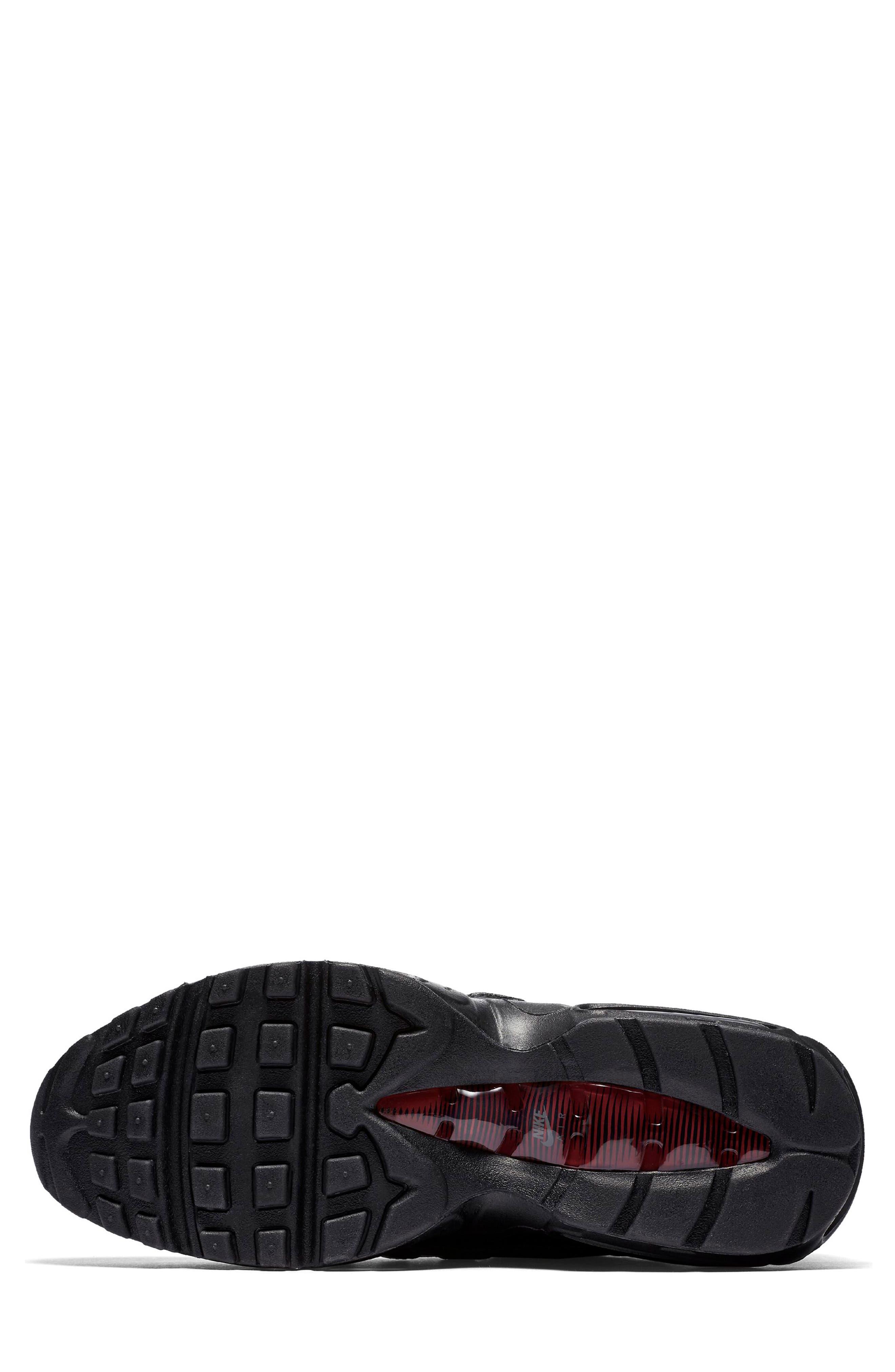 Air Max 95 NRG Sneaker,                             Alternate thumbnail 5, color,                             BLACK/ TEAM RED/ ANTHRACITE