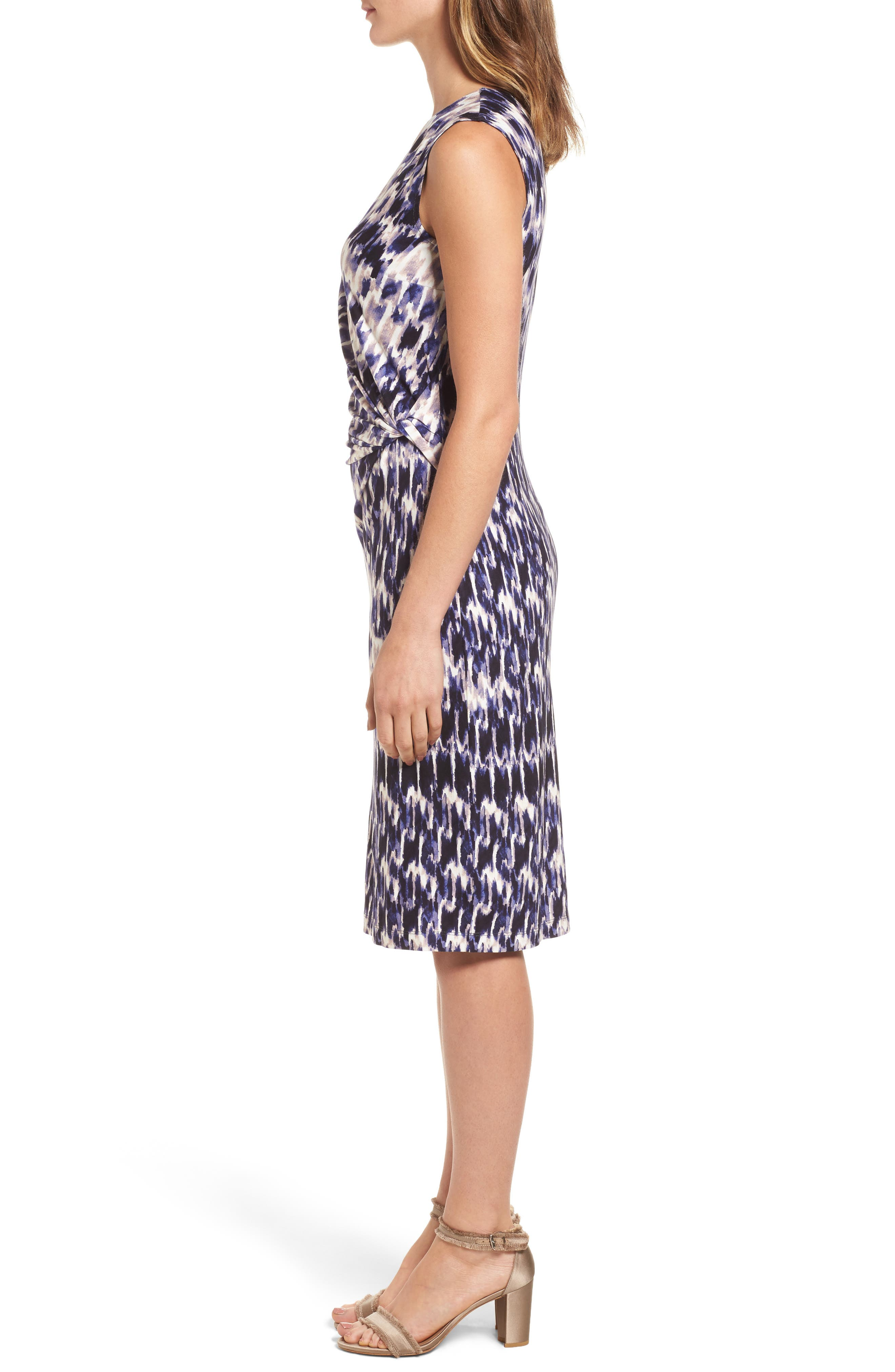 Lotus Side Twist Sheath Dress,                             Alternate thumbnail 3, color,
