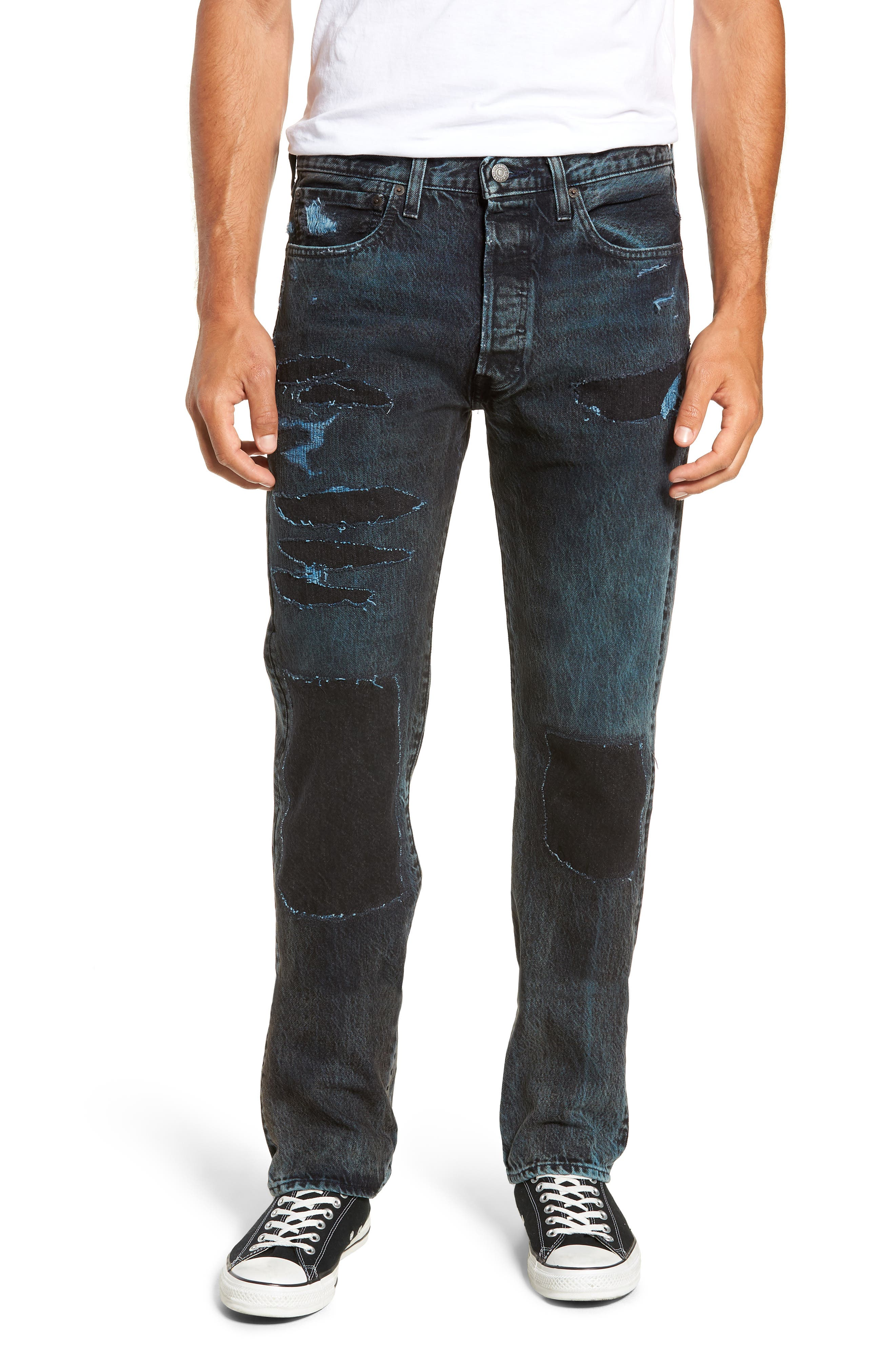 501<sup>®</sup> Straight Leg Jeans,                         Main,                         color, SOULSIDE WARP STRETCH