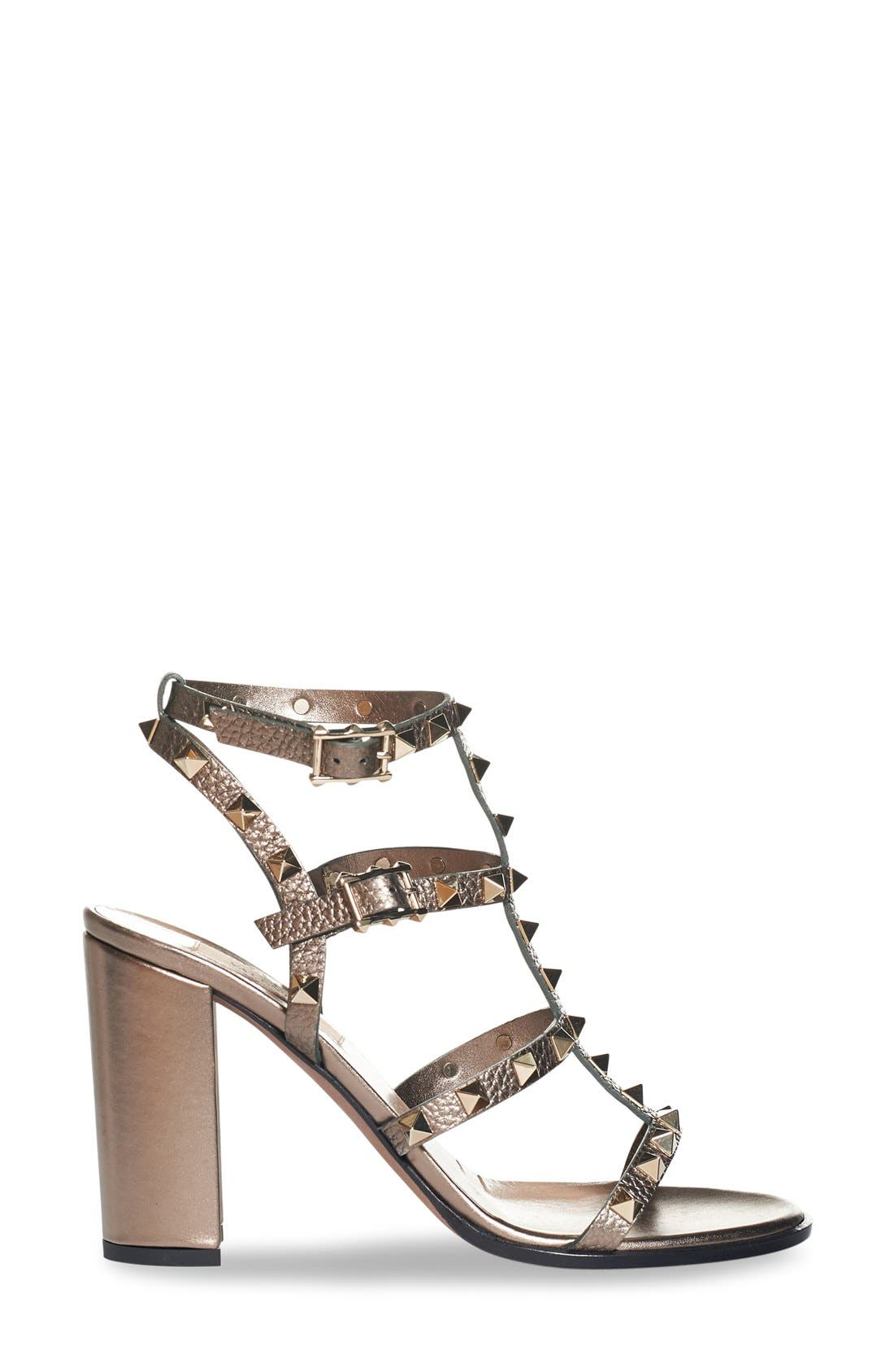 'Rockstud' Cage Sandal,                             Alternate thumbnail 3, color,                             229