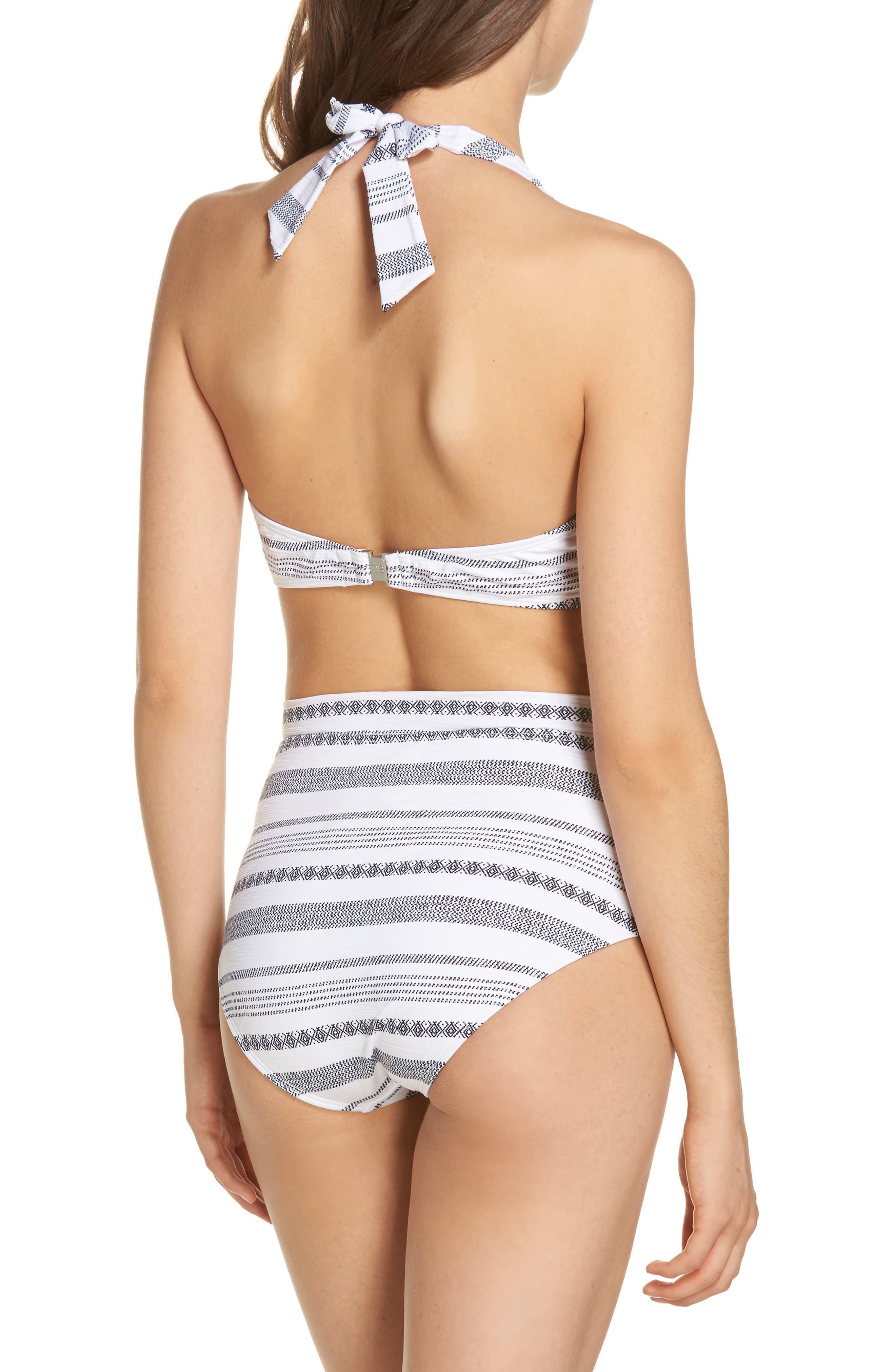 Sand Bar Stripe Underwire Bikini Top,                             Alternate thumbnail 8, color,                             100
