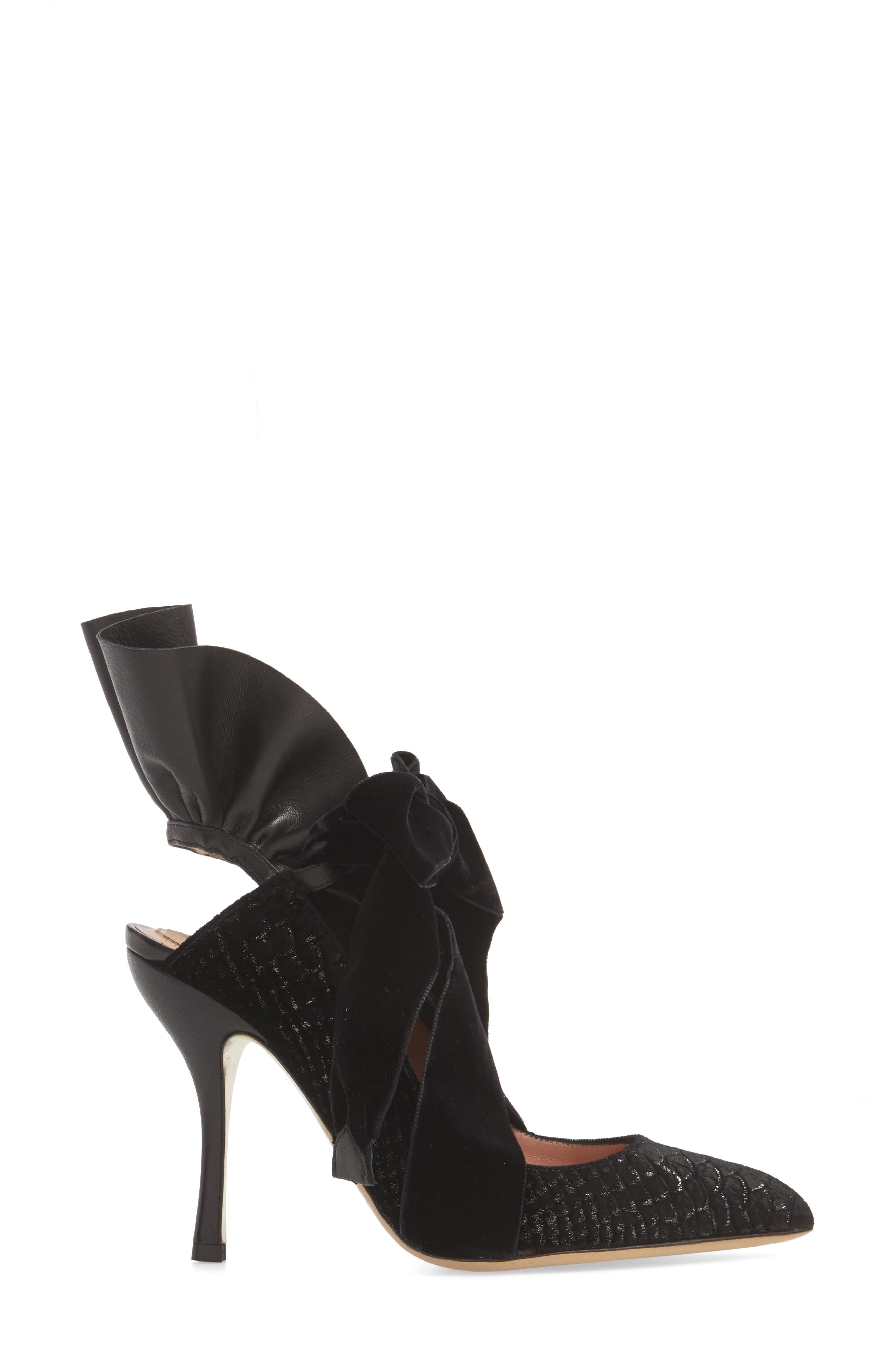 Frills Cobra Pump,                             Alternate thumbnail 3, color,                             BLACK