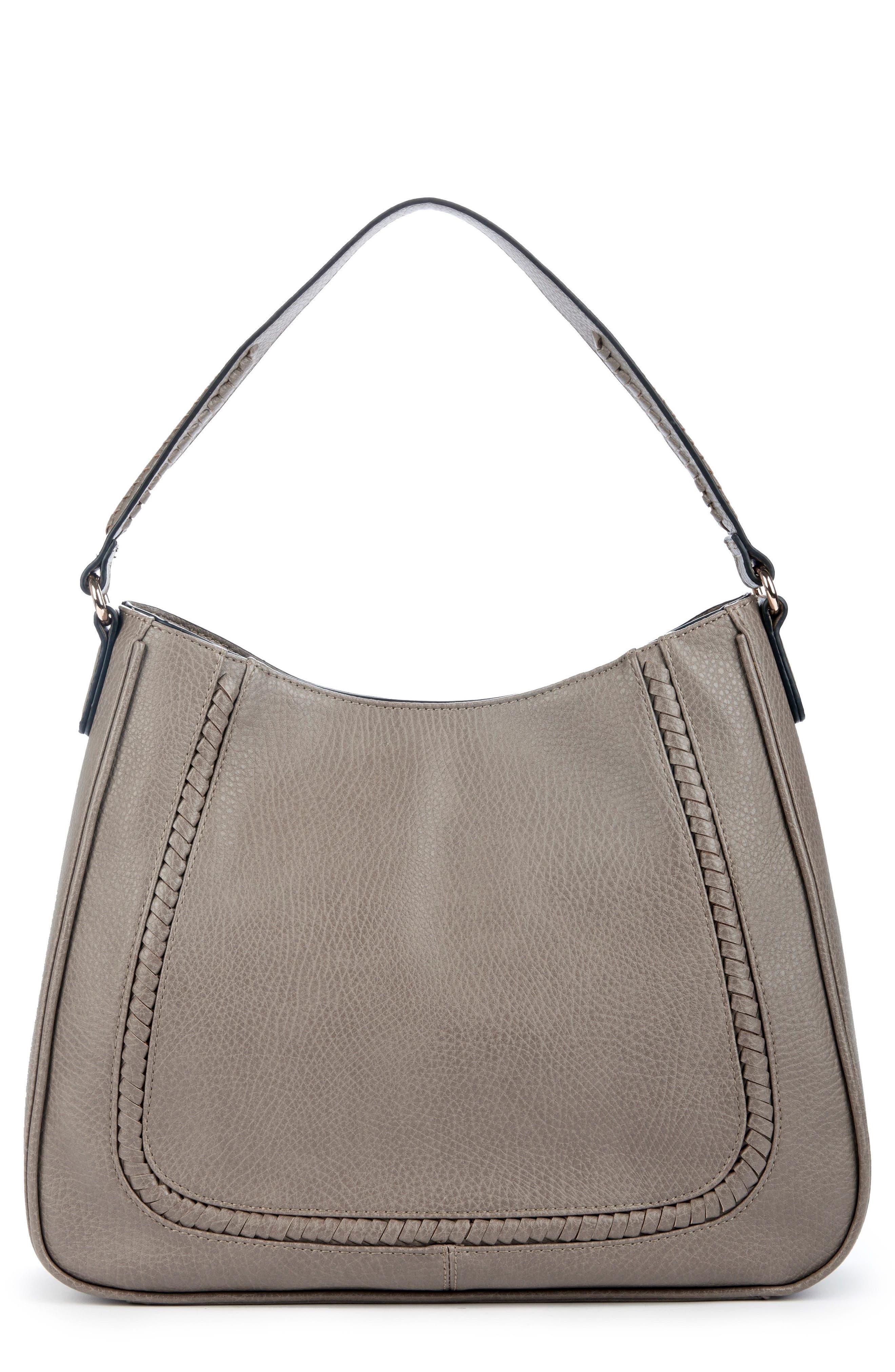Sarafina Faux Leather Shoulder Bag,                             Main thumbnail 1, color,                             020