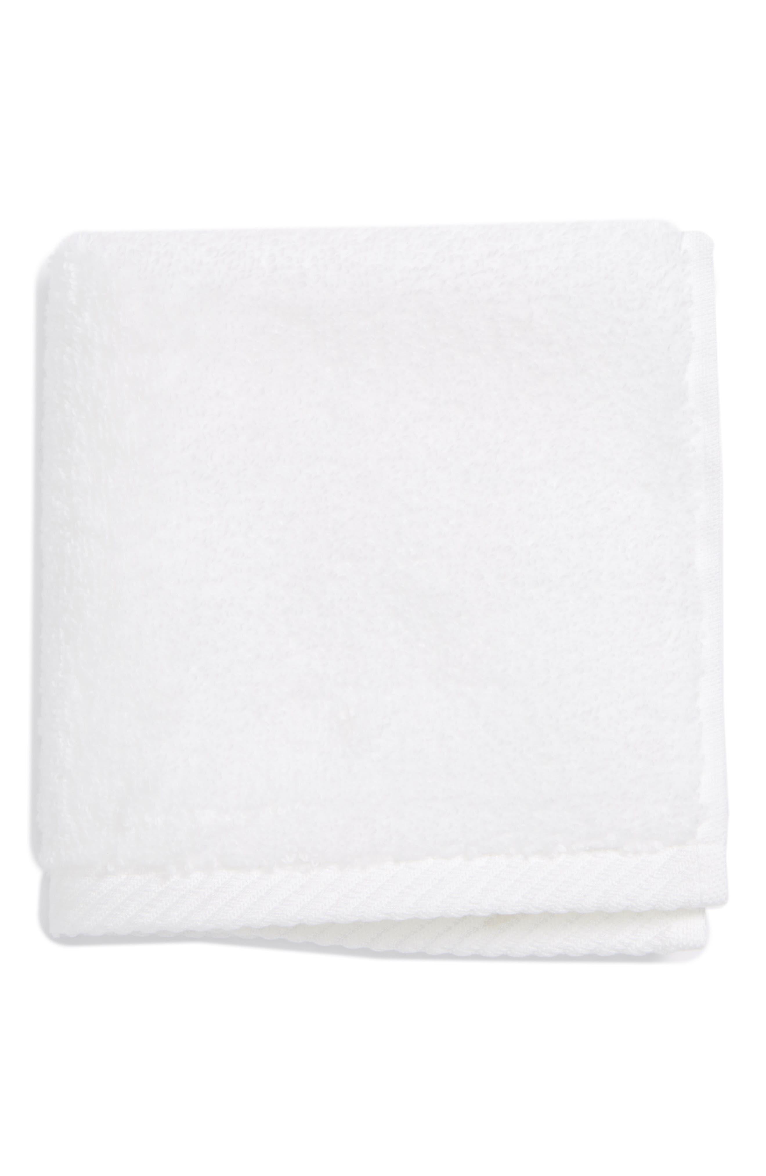 Milagro Washcloth,                             Main thumbnail 1, color,                             WHITE