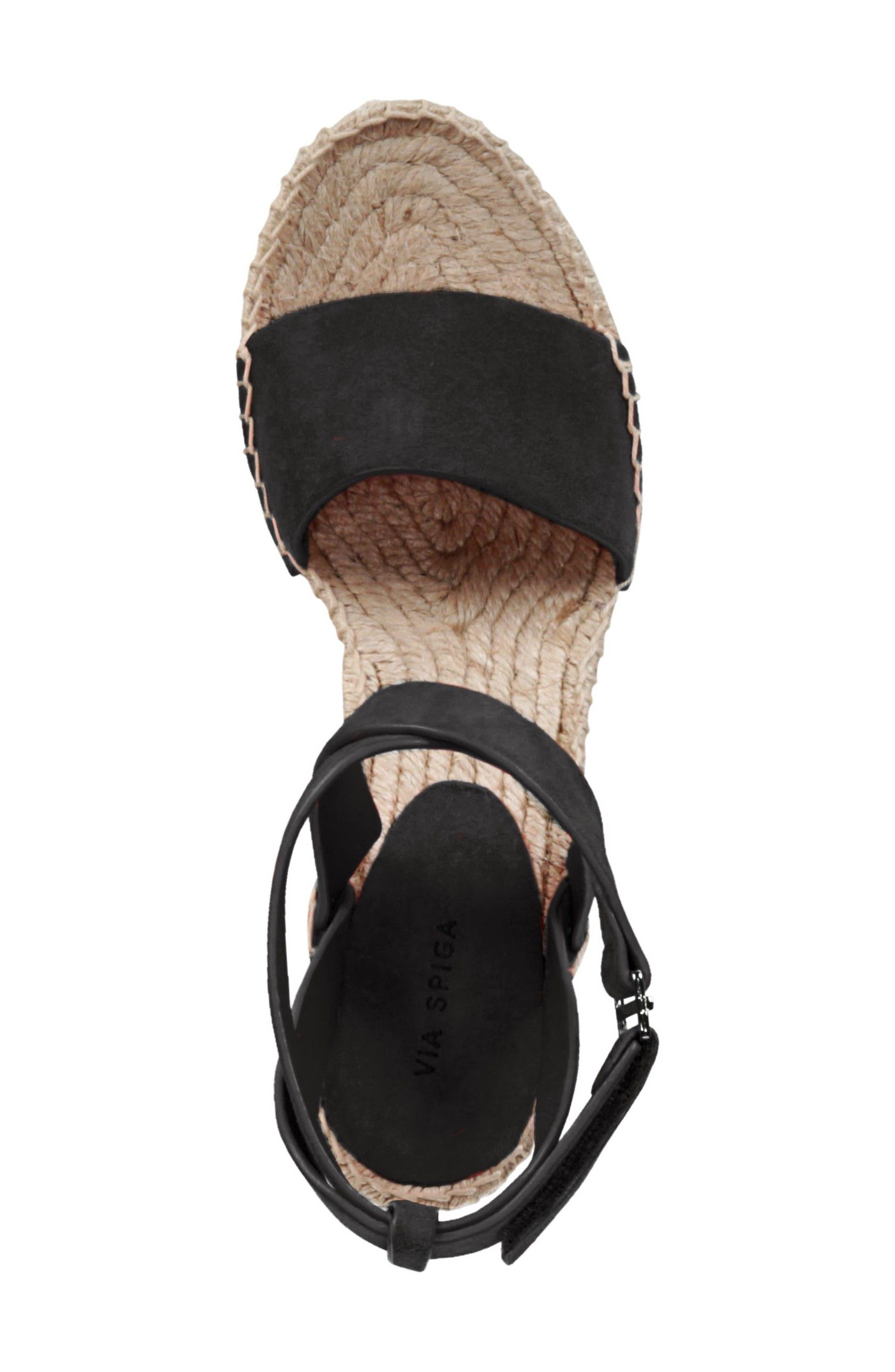 VIA SPIGA,                             Nevada Espadrille Wedge Sandal,                             Alternate thumbnail 5, color,                             002