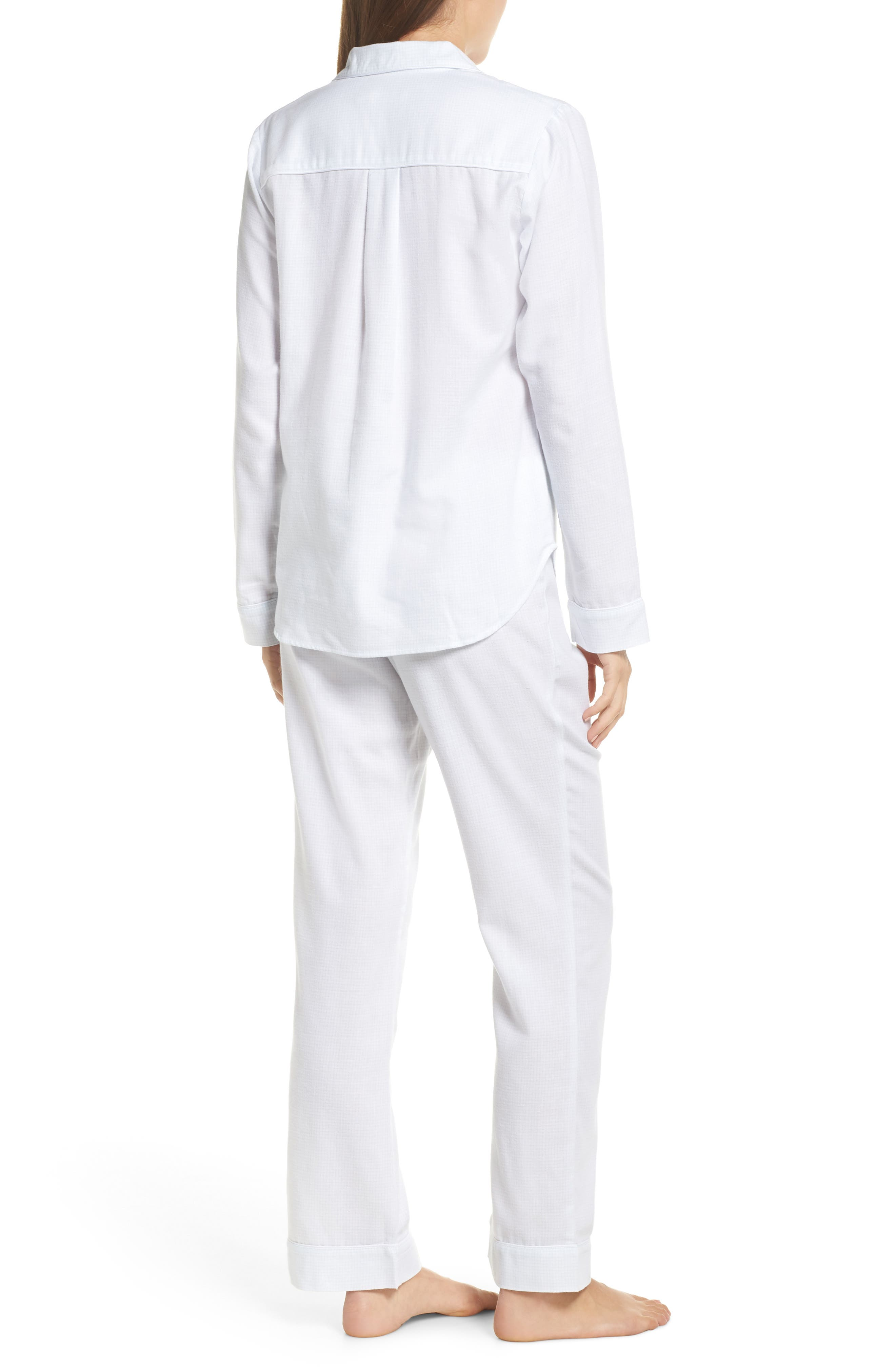 Raven Plaid Pajamas,                             Alternate thumbnail 2, color,                             WHITE / SKY BLUE CHECK
