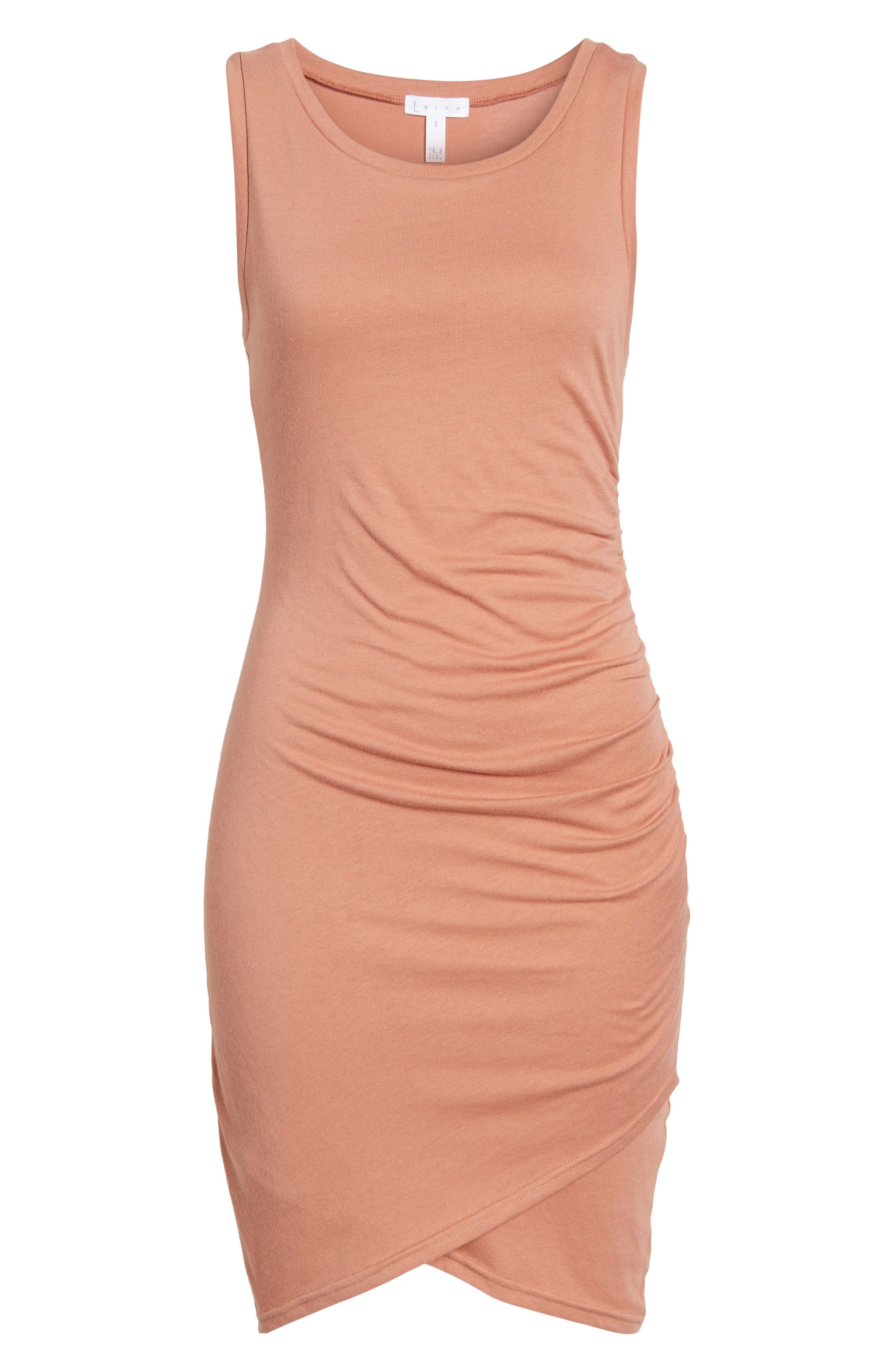 Ruched Body-Con Tank Dress,                             Alternate thumbnail 180, color,