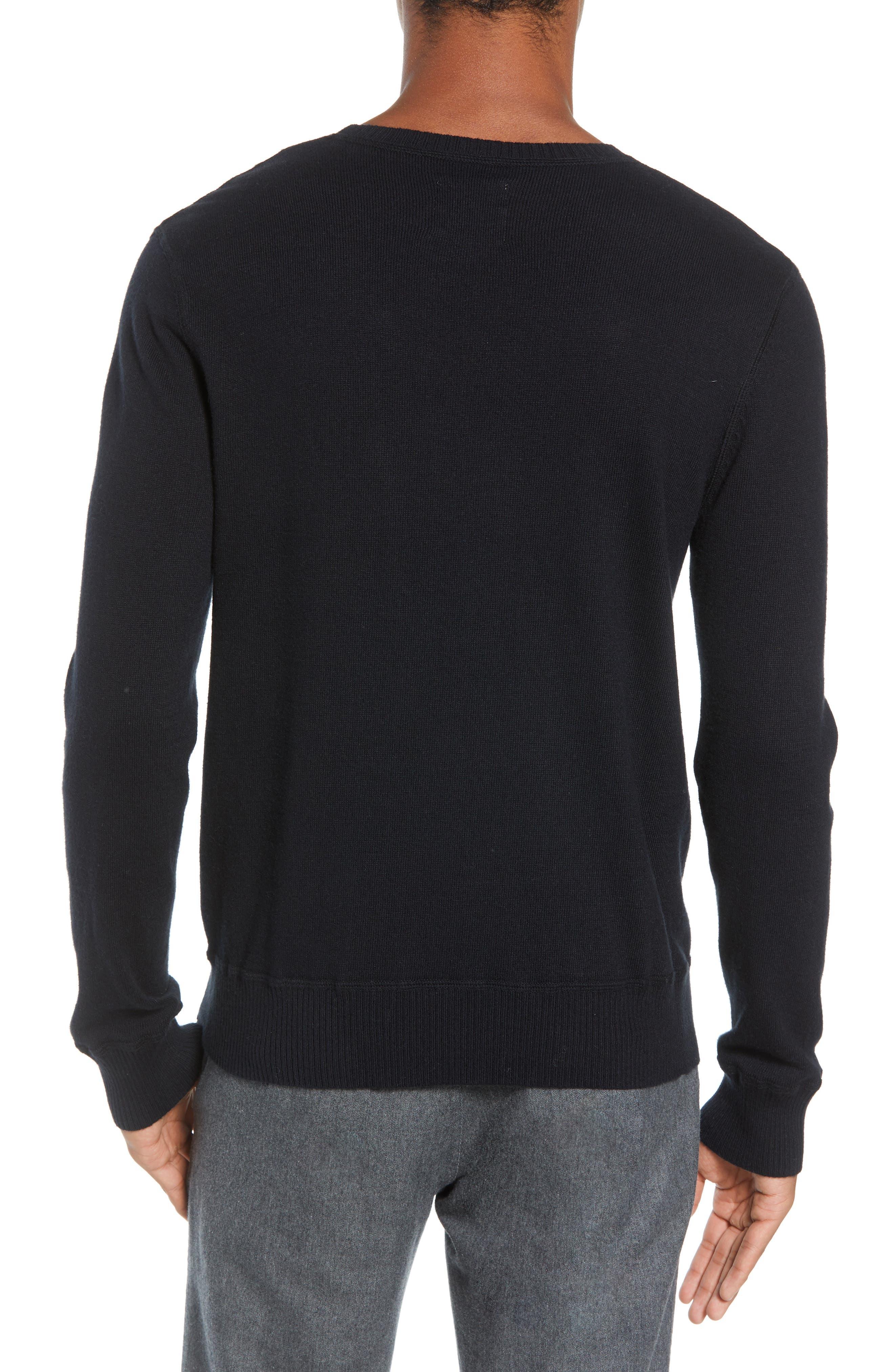 Tournament Slim Fit Crewneck Sweater,                             Alternate thumbnail 2, color,                             BLACK