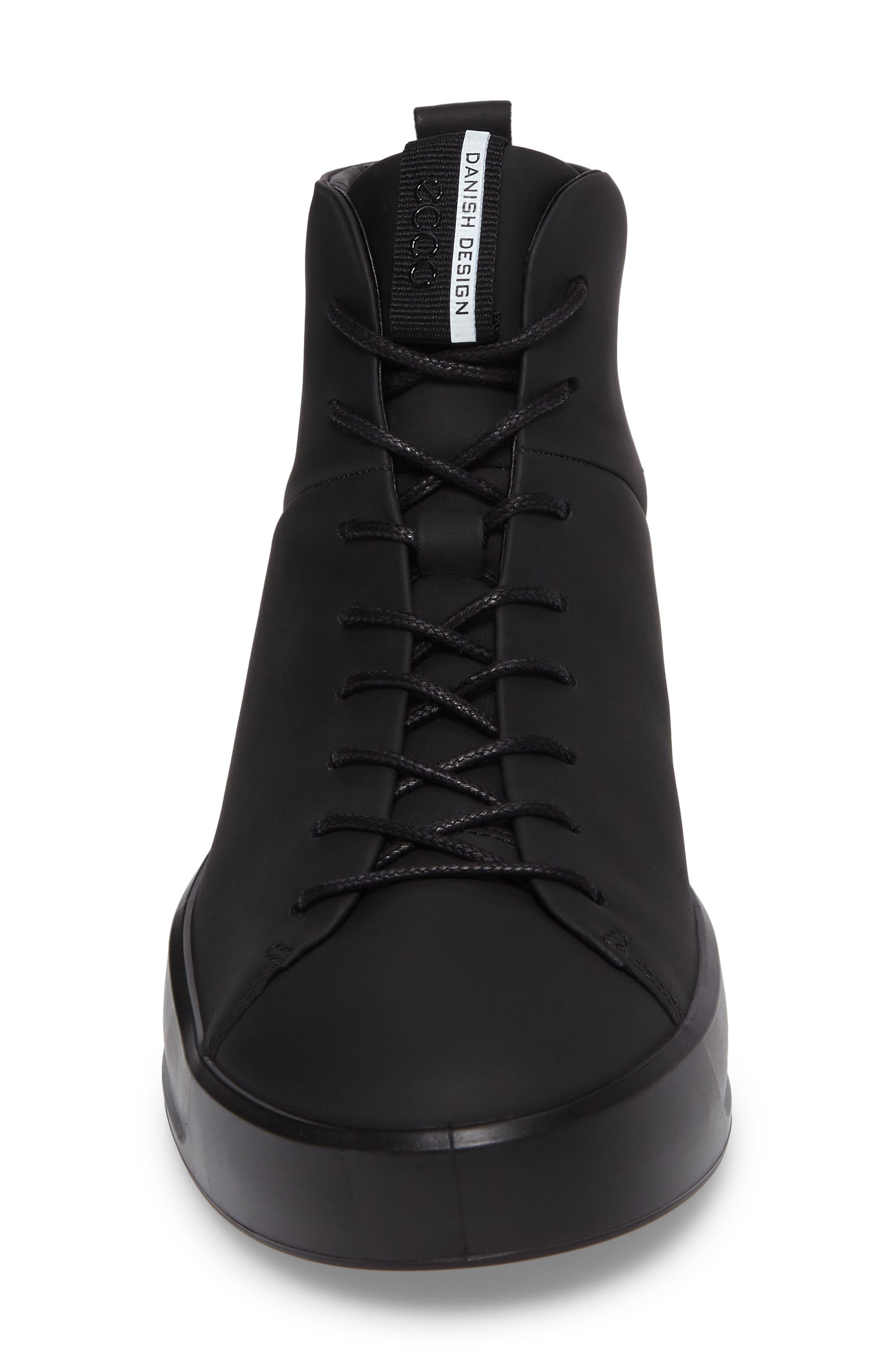 Soft 8 Sneaker,                             Alternate thumbnail 4, color,                             BLACK LEATHER