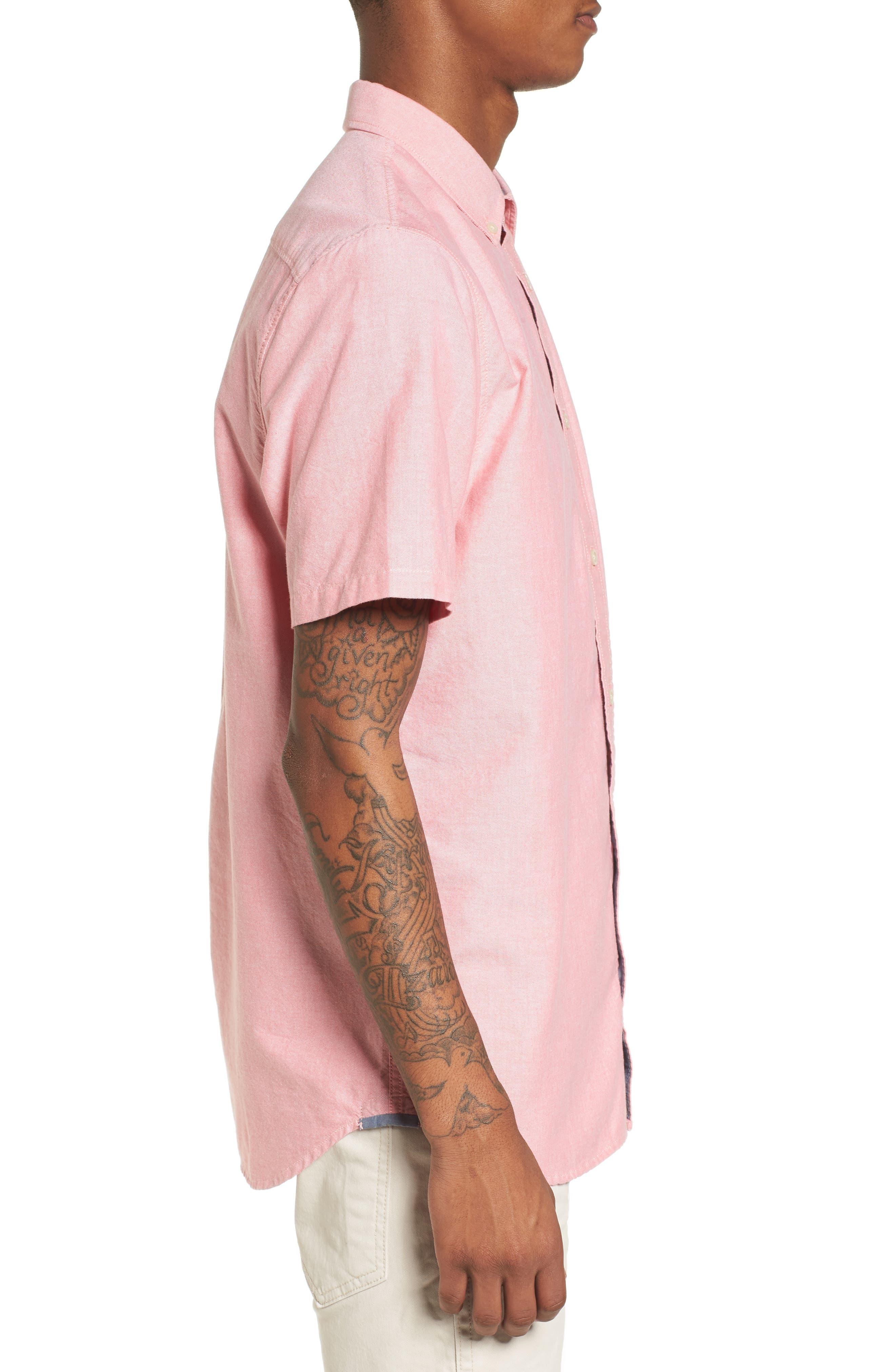 Houser Solid Woven Shirt,                             Alternate thumbnail 3, color,                             950