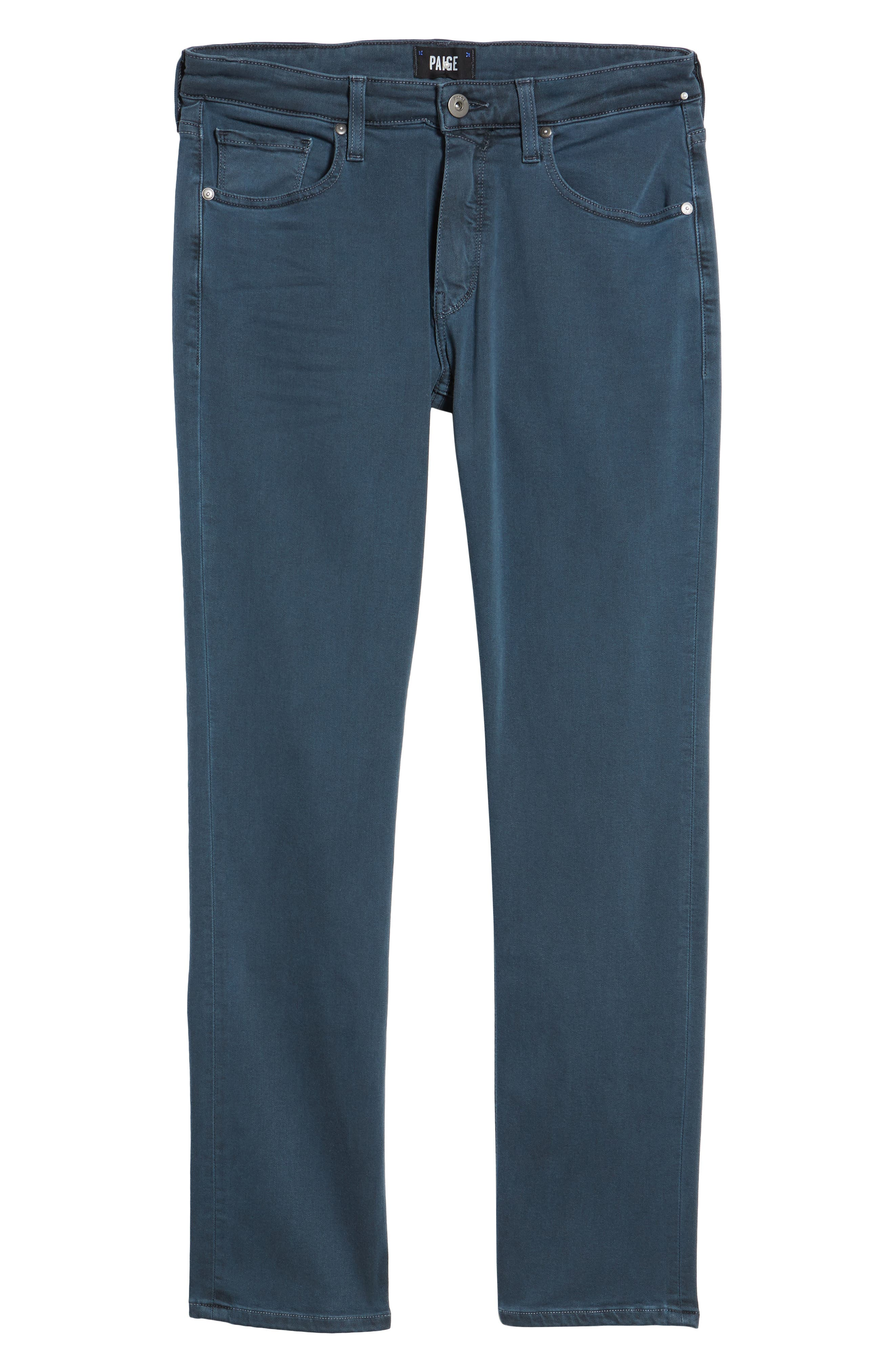Transcend - Federal Slim Straight Fit Jeans,                             Alternate thumbnail 6, color,                             VINTAGE AMALFI