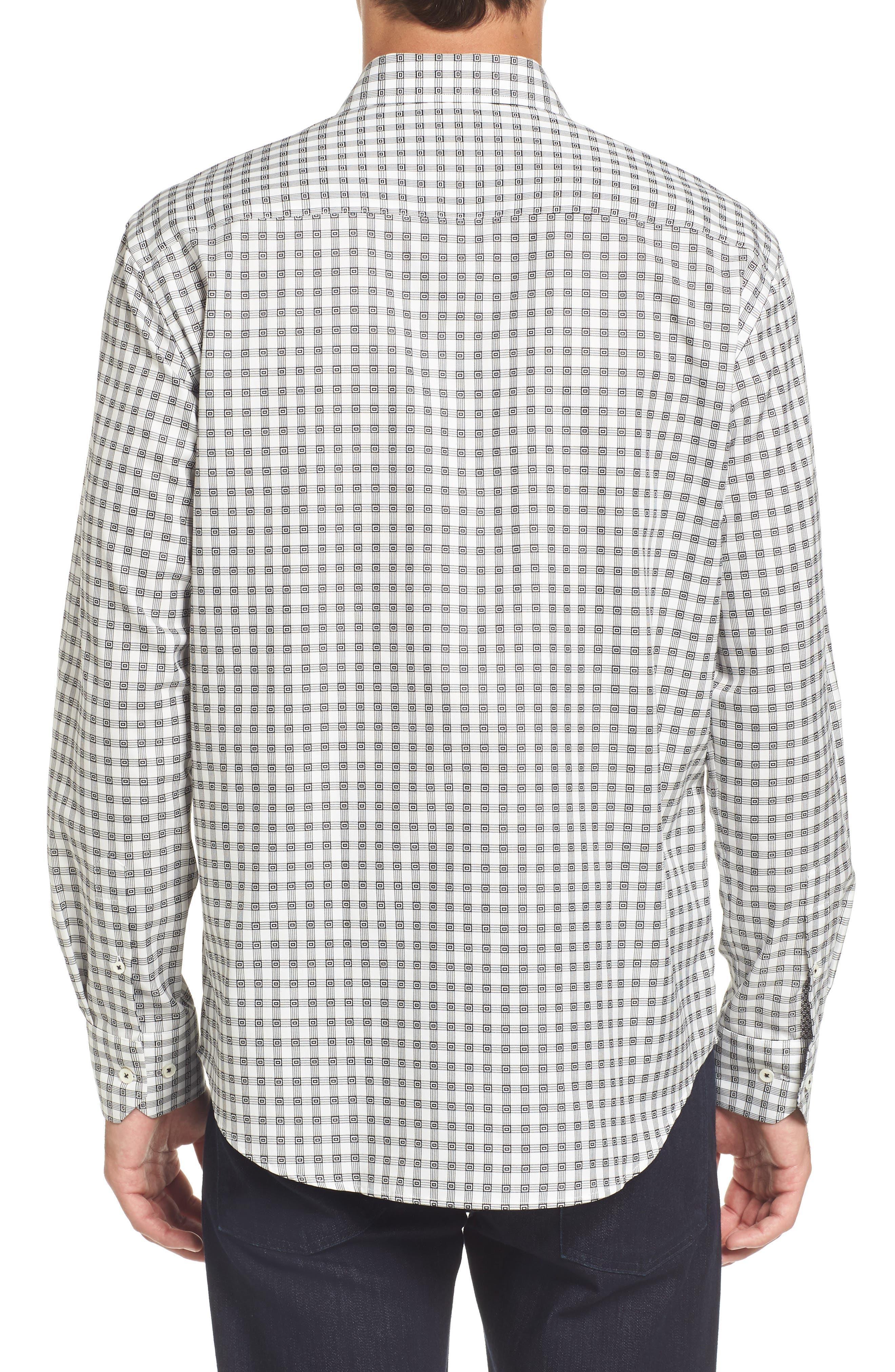 Shaped Fit Check Sport Shirt,                             Alternate thumbnail 2, color,                             020