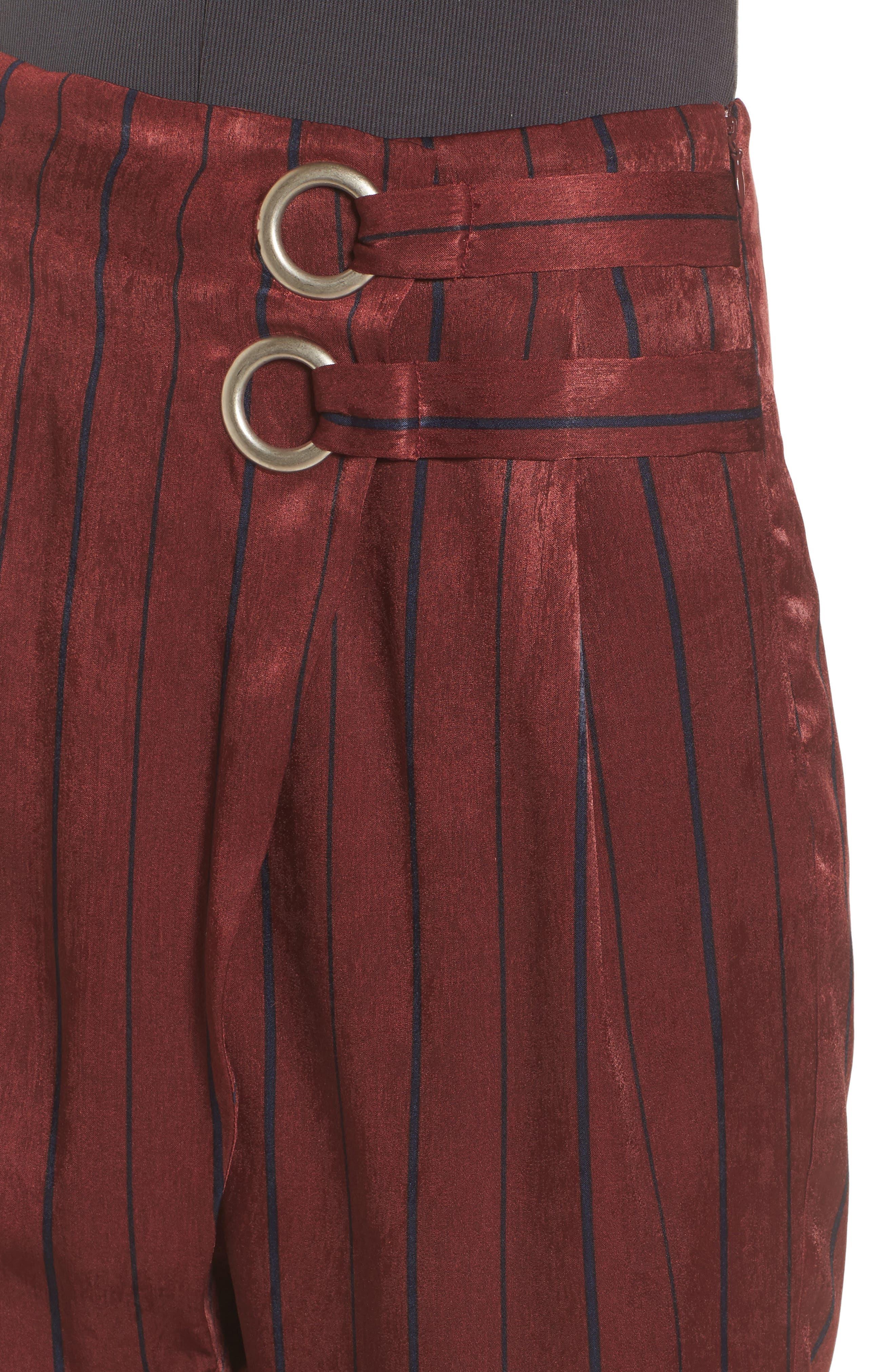 Stripe Crop Pants,                             Alternate thumbnail 4, color,                             930