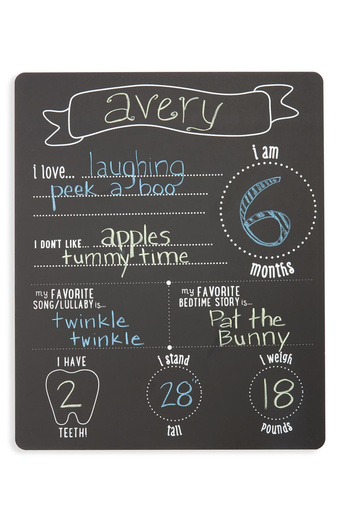 'All About Baby' Chalkboard,                             Main thumbnail 1, color,