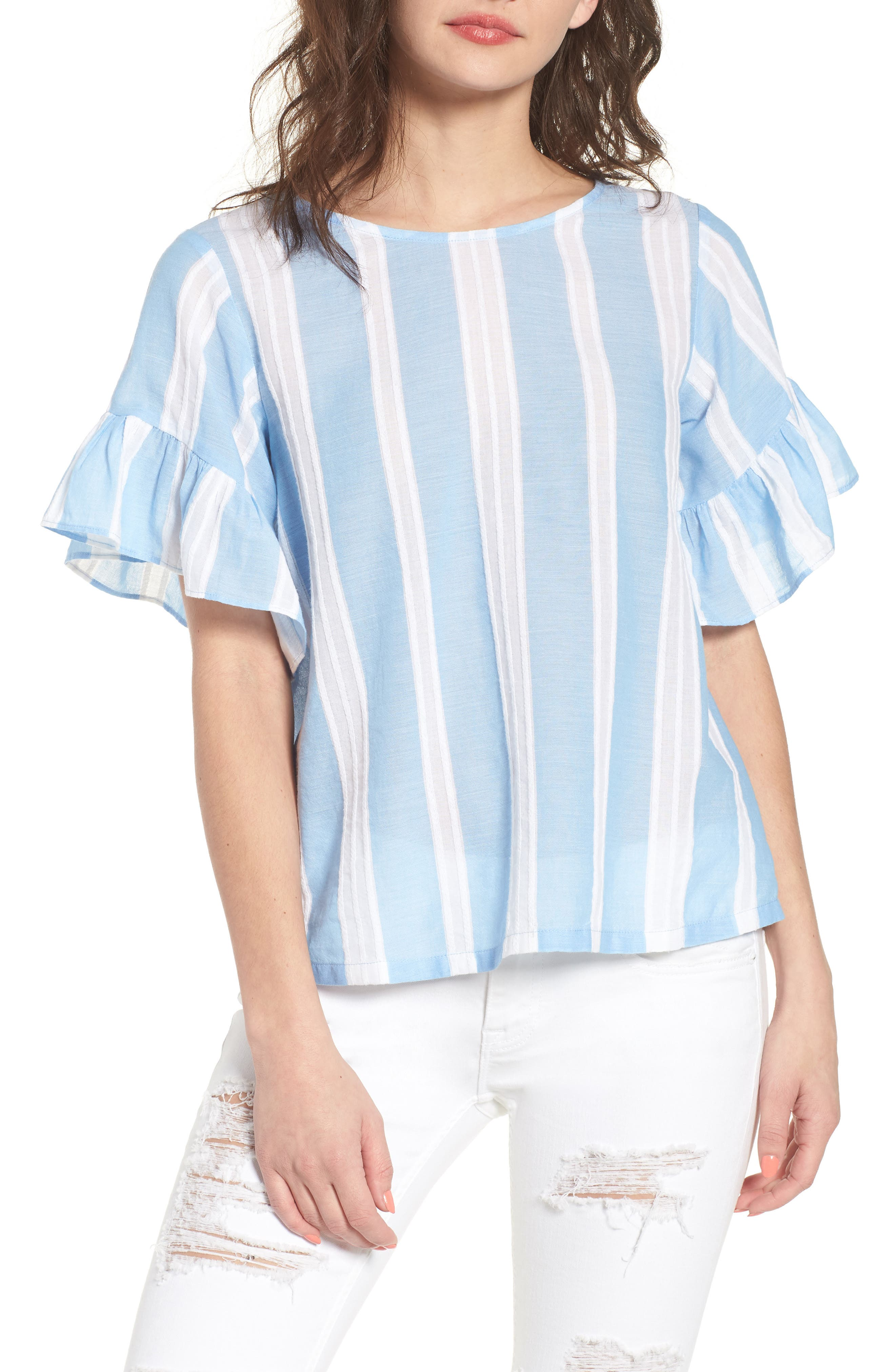 Stripe Tie Back Top,                         Main,                         color, 420