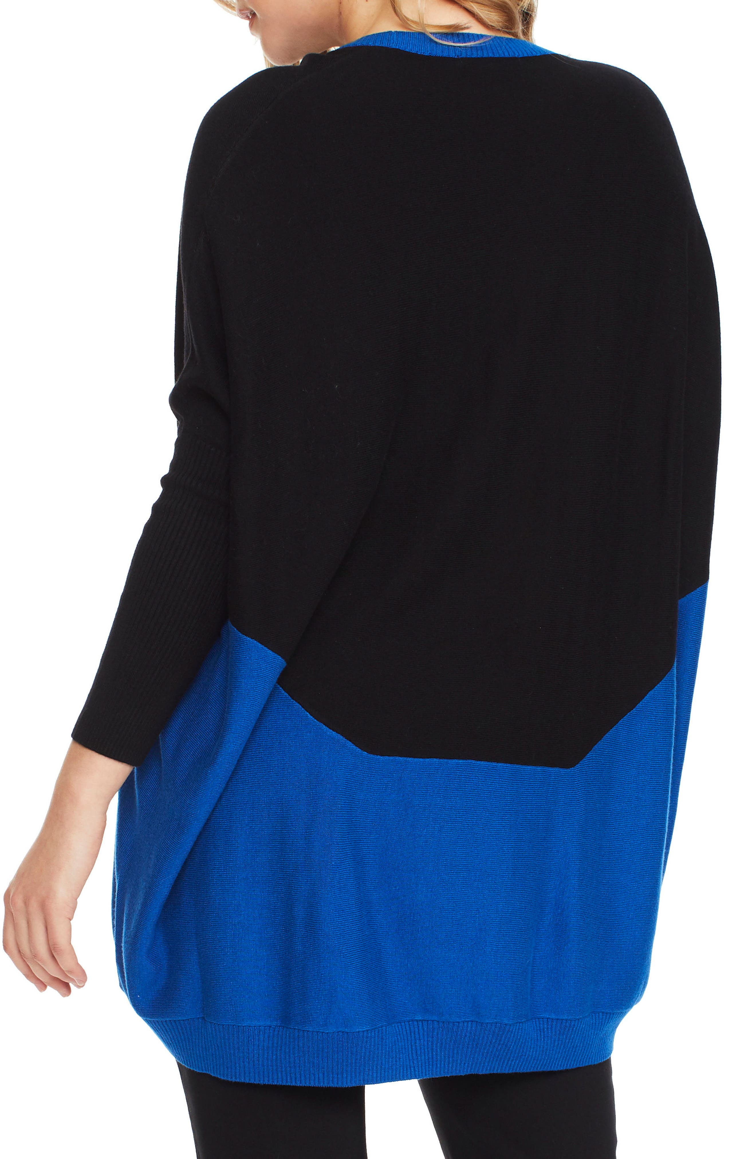Hazel Colorblock Maternity Sweater,                             Alternate thumbnail 2, color,                             INDIGO / BLACK