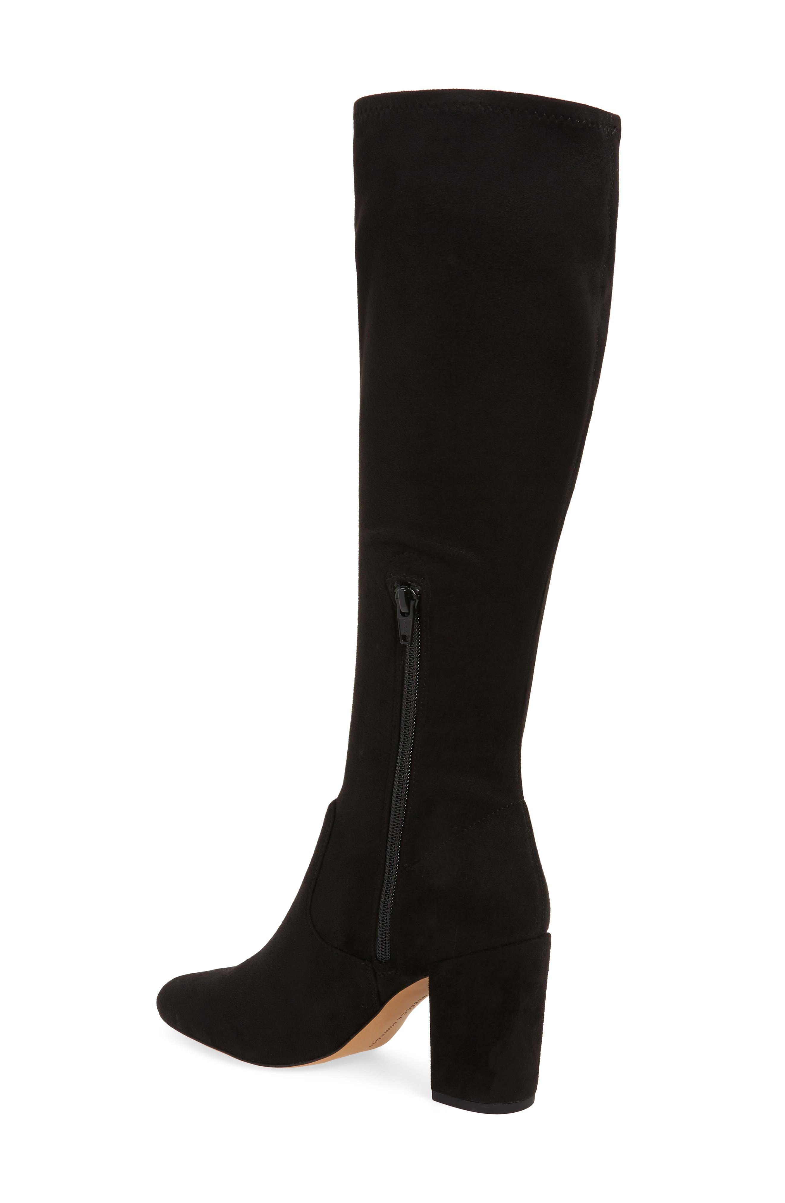 Gillian Knee High Boot,                             Alternate thumbnail 2, color,                             BLACK SUEDE