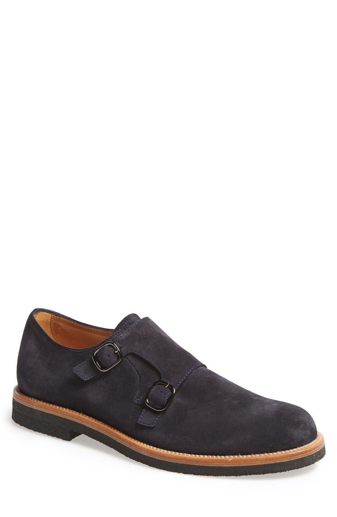 Double Monk Strap Shoe,                             Main thumbnail 1, color,                             410