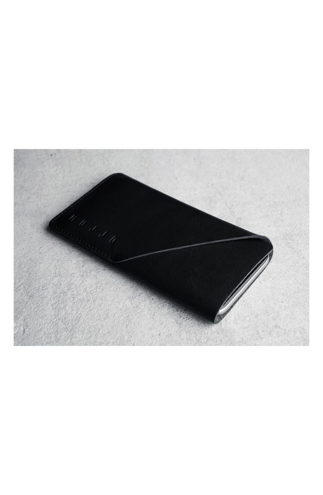iPhone 6 Leather Wallet Sleeve,                             Alternate thumbnail 3, color,                             001