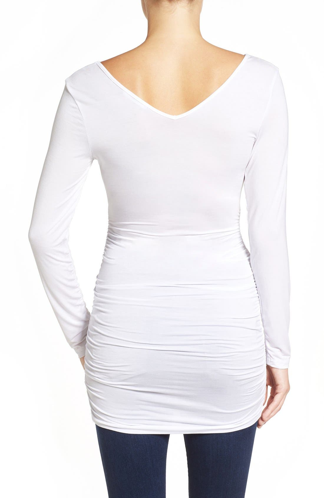 'Abbi' Ruched Maternity Tunic,                             Alternate thumbnail 6, color,