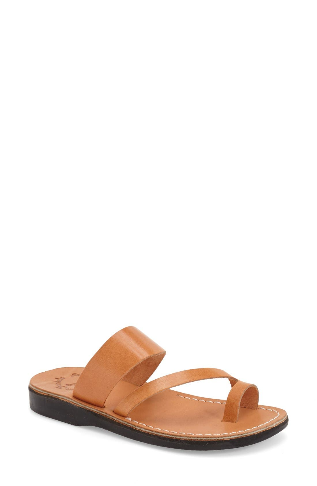 'Zohar' Leather Sandal,                             Main thumbnail 1, color,