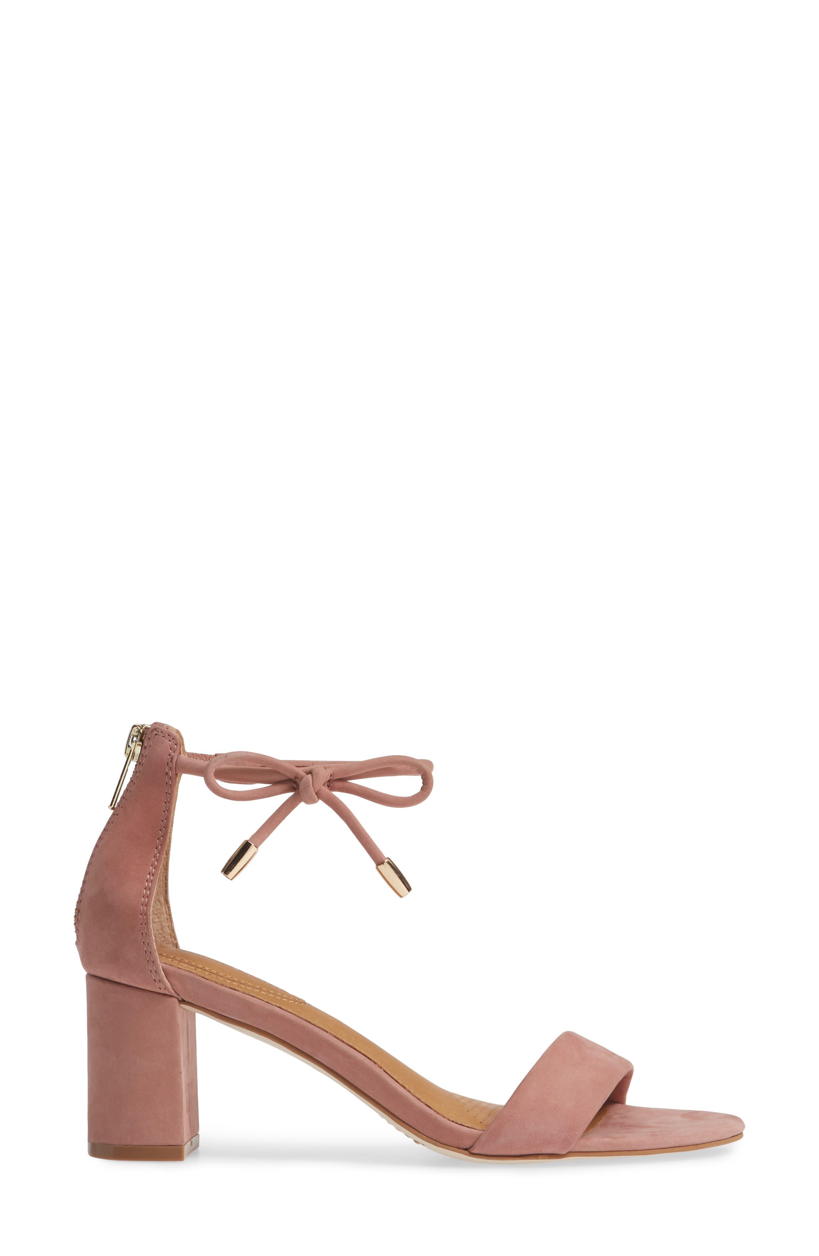 Celebratt Ankle Strap Sandal,                             Alternate thumbnail 3, color,                             OLD ROSE NUBUCK LEATHER