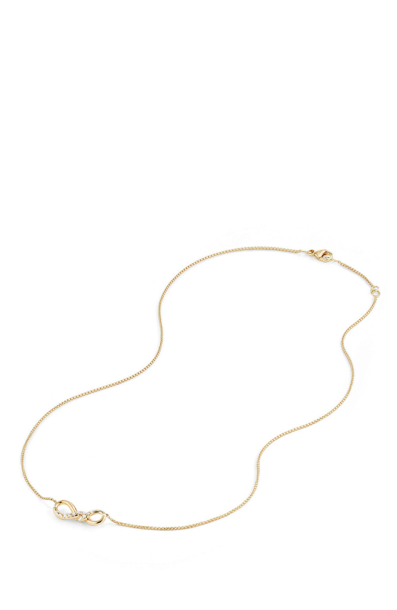 Continuance Pendant Necklace in 18K Gold with Diamonds,                             Alternate thumbnail 4, color,                             YELLOW GOLD