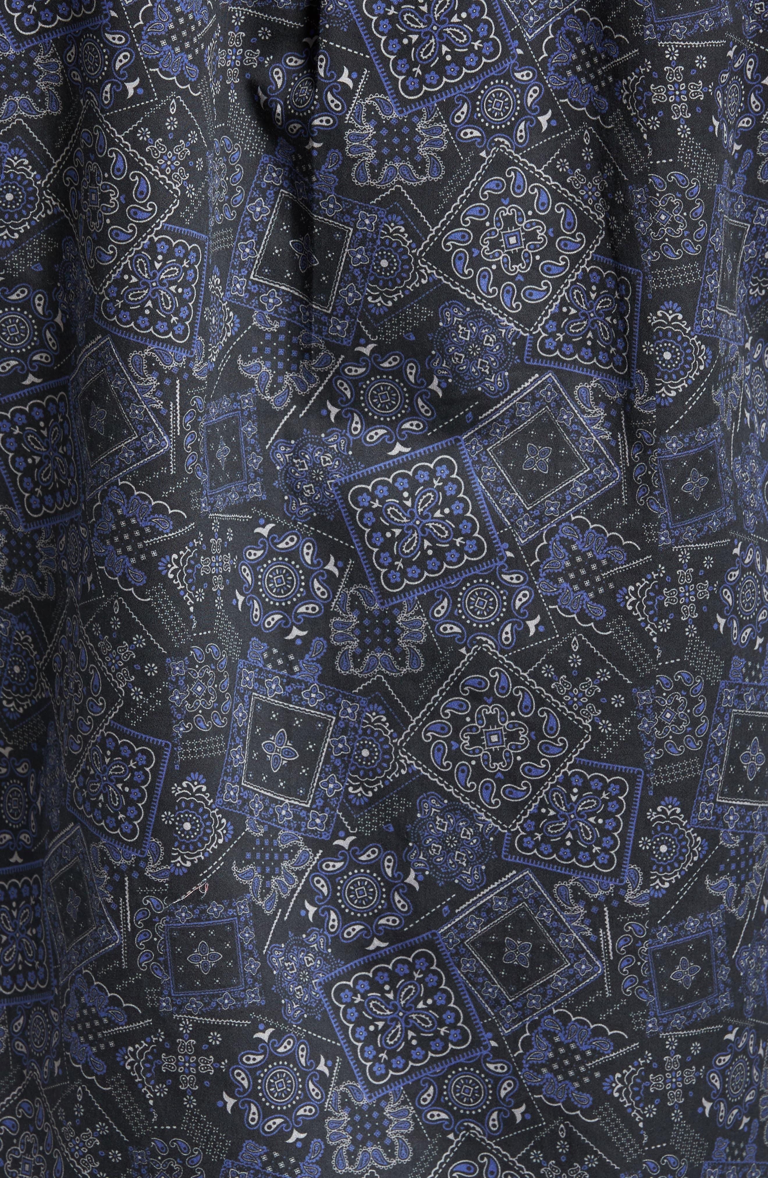 Bandana Woven Shirt,                             Alternate thumbnail 5, color,                             400
