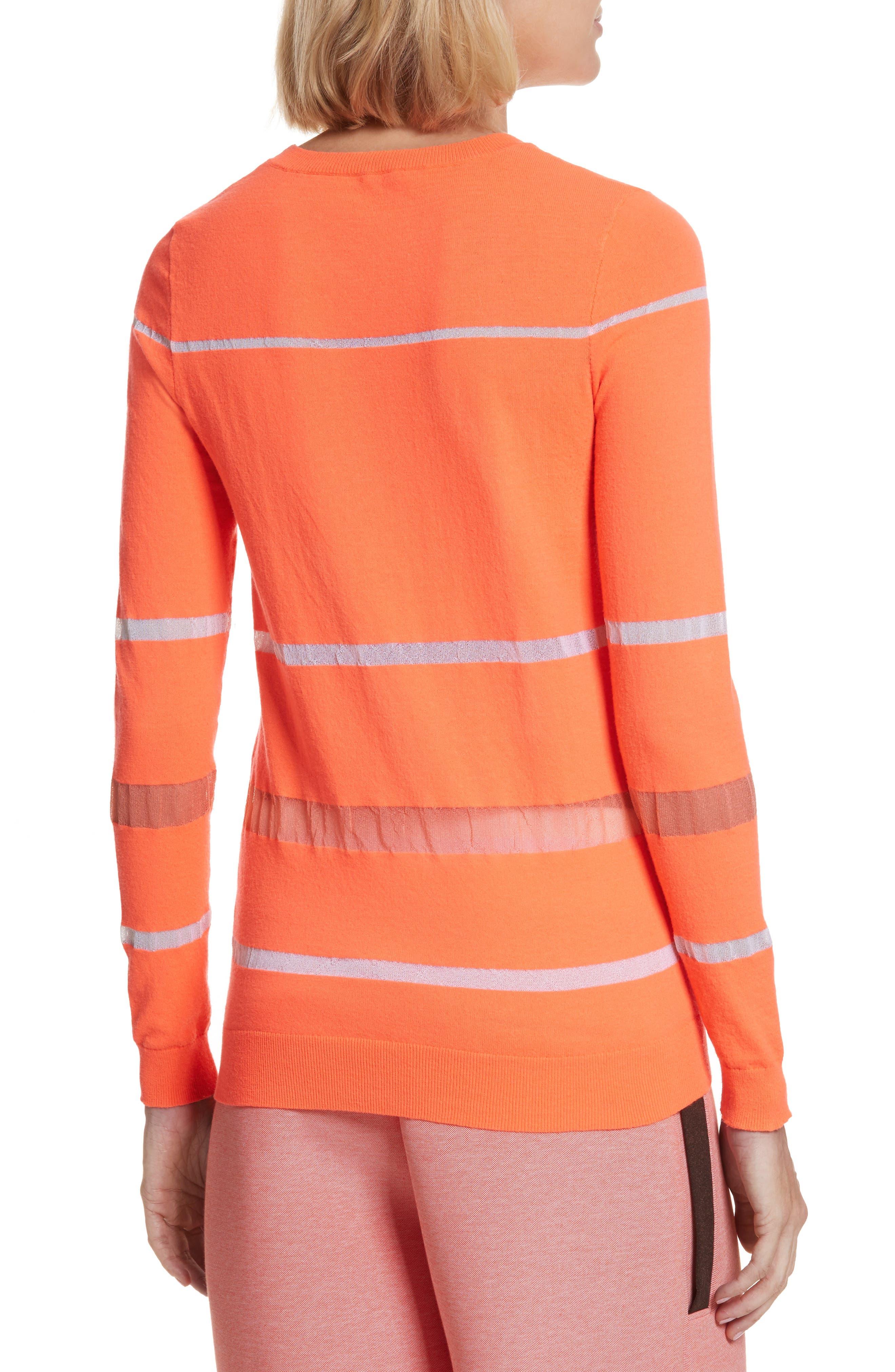 Illusion Stripe Crewneck Sweater,                             Alternate thumbnail 2, color,                             850