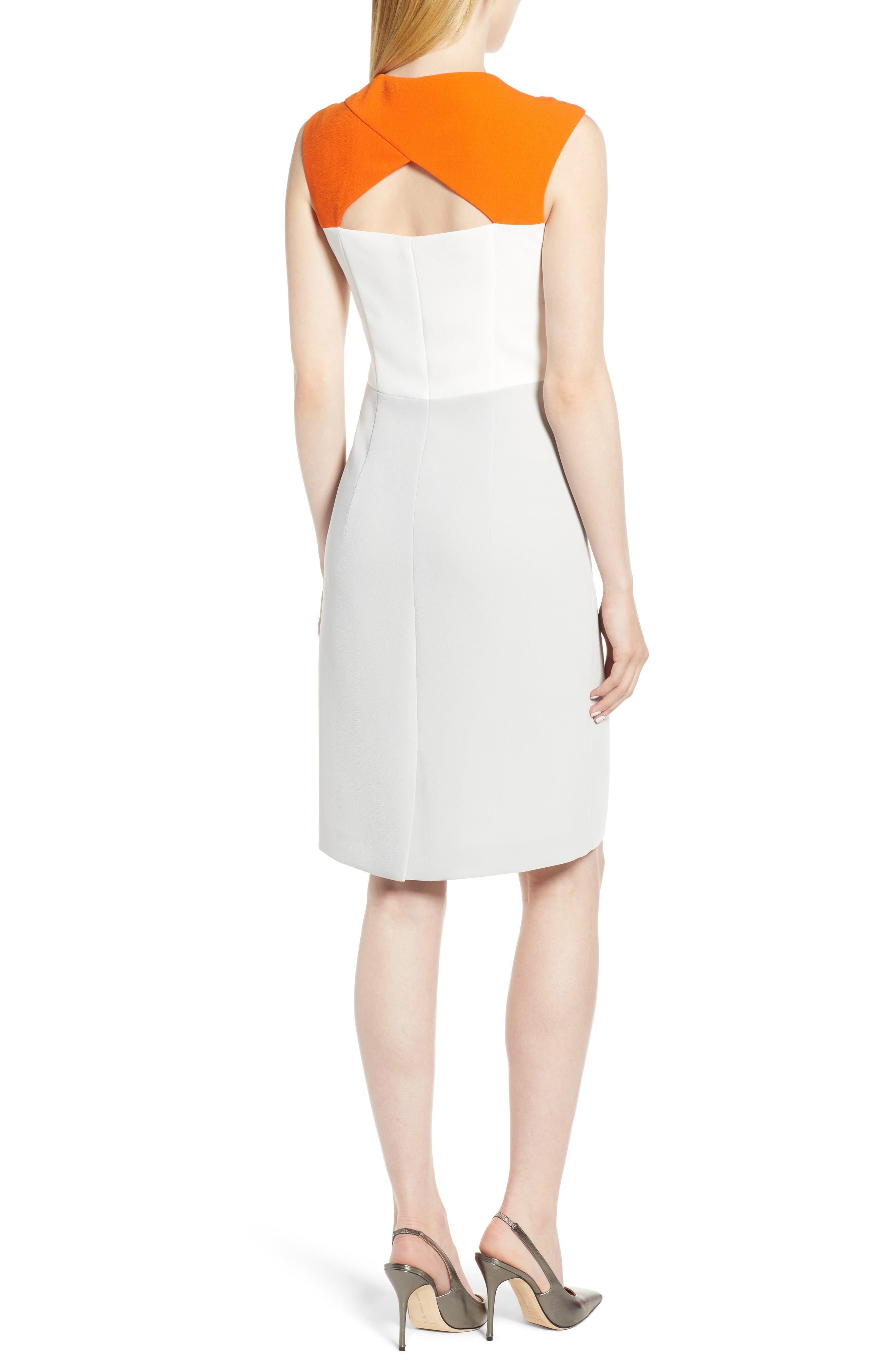 Dekala Colorblock Sheath Dress,                             Alternate thumbnail 2, color,                             021