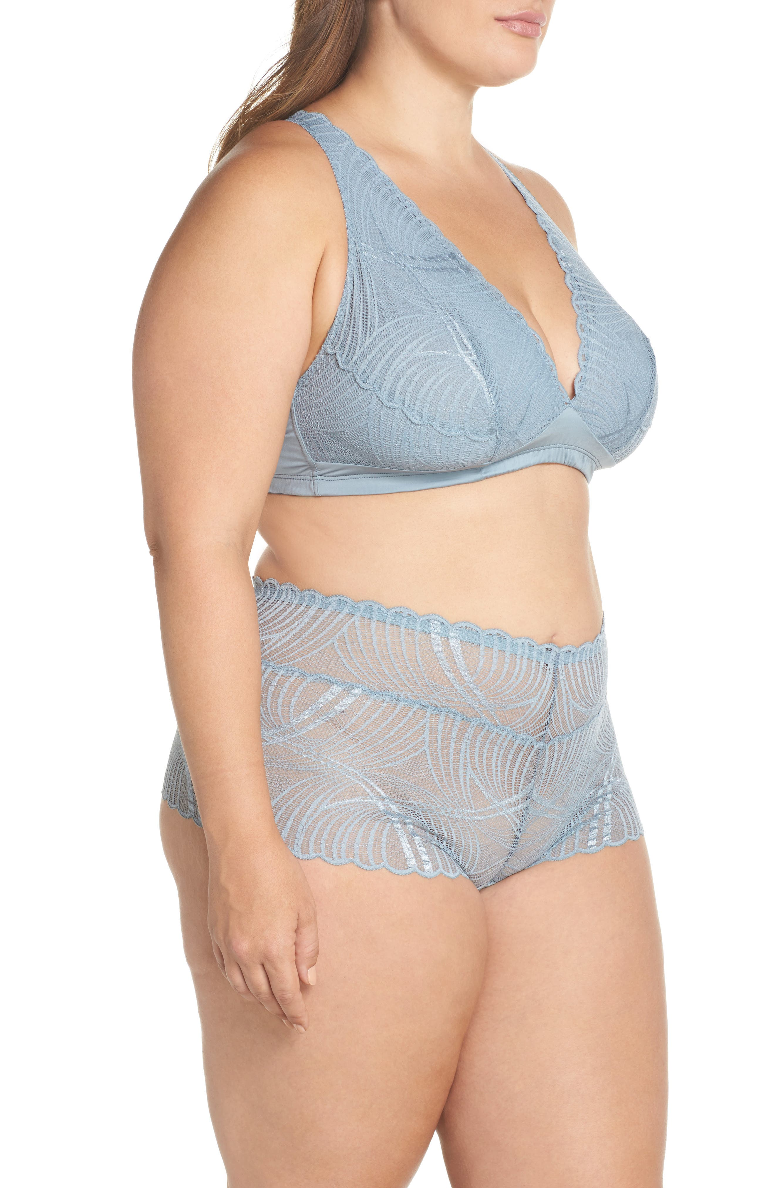 Minoa Naughtie Open Gusset Boyshorts,                             Alternate thumbnail 25, color,