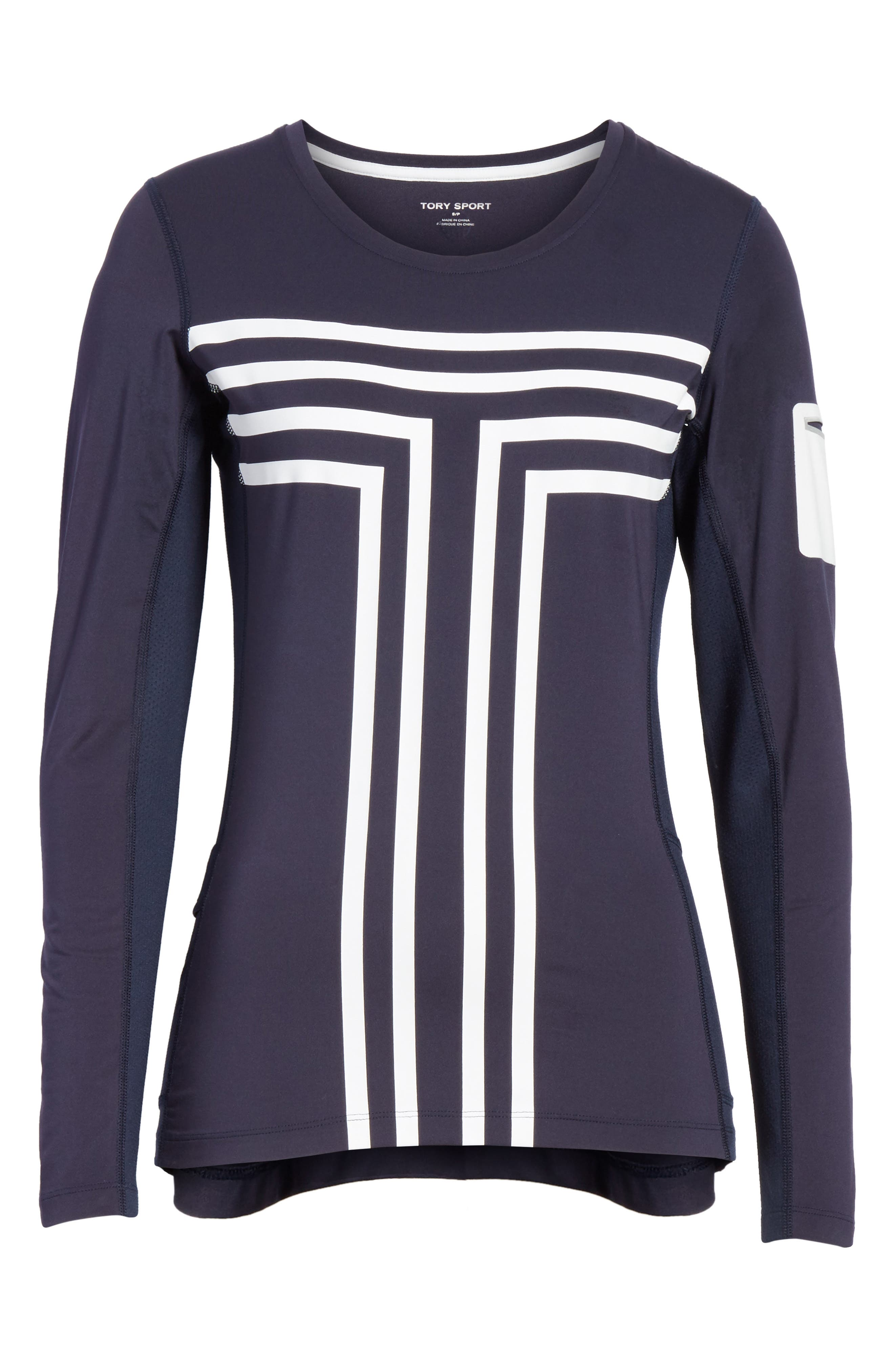 Graphic Performance Top,                             Alternate thumbnail 6, color,                             TORY NAVY