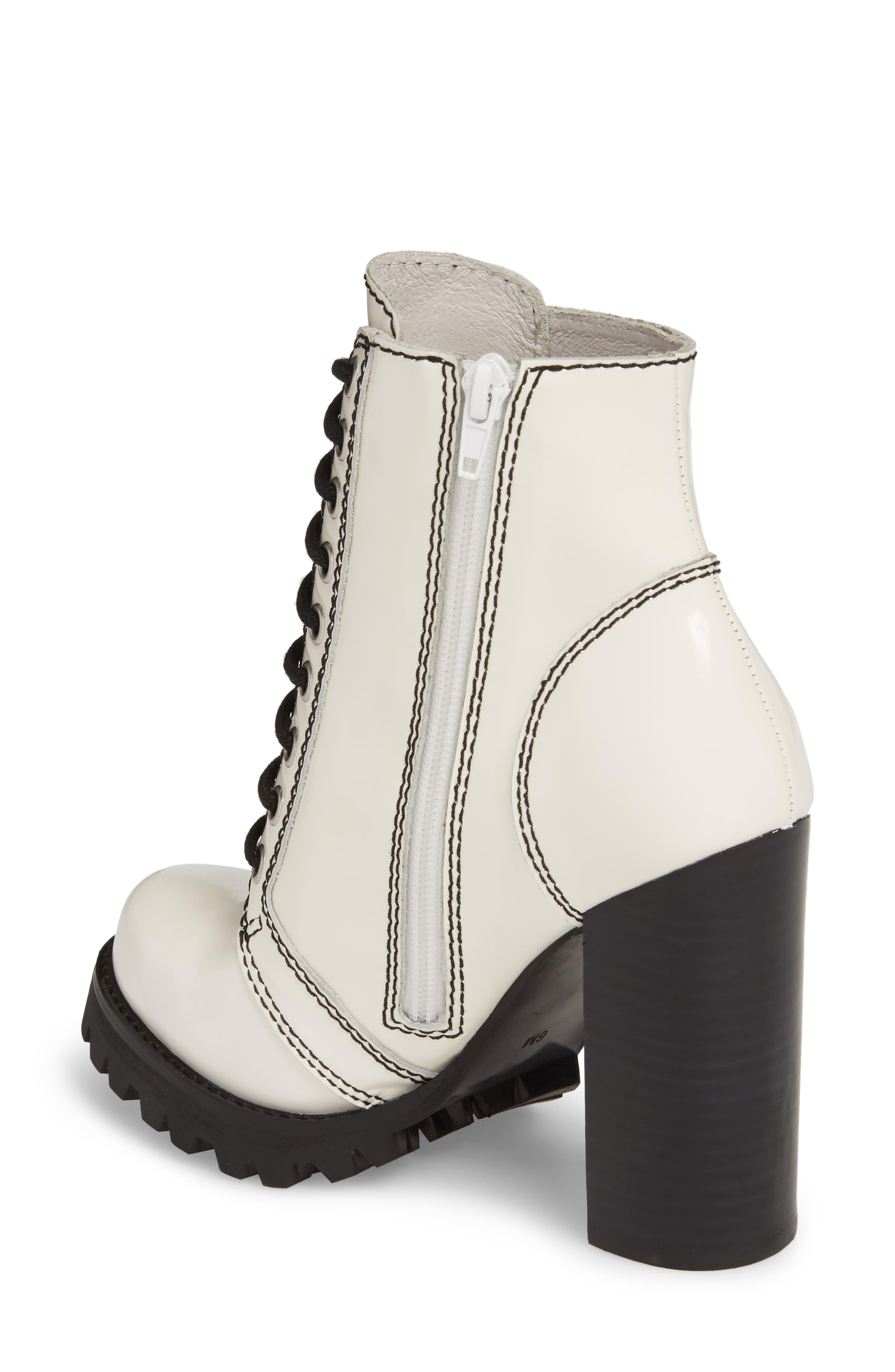 'Legion' High Heel Boot,                             Alternate thumbnail 2, color,                             WHITE BOX BLACK