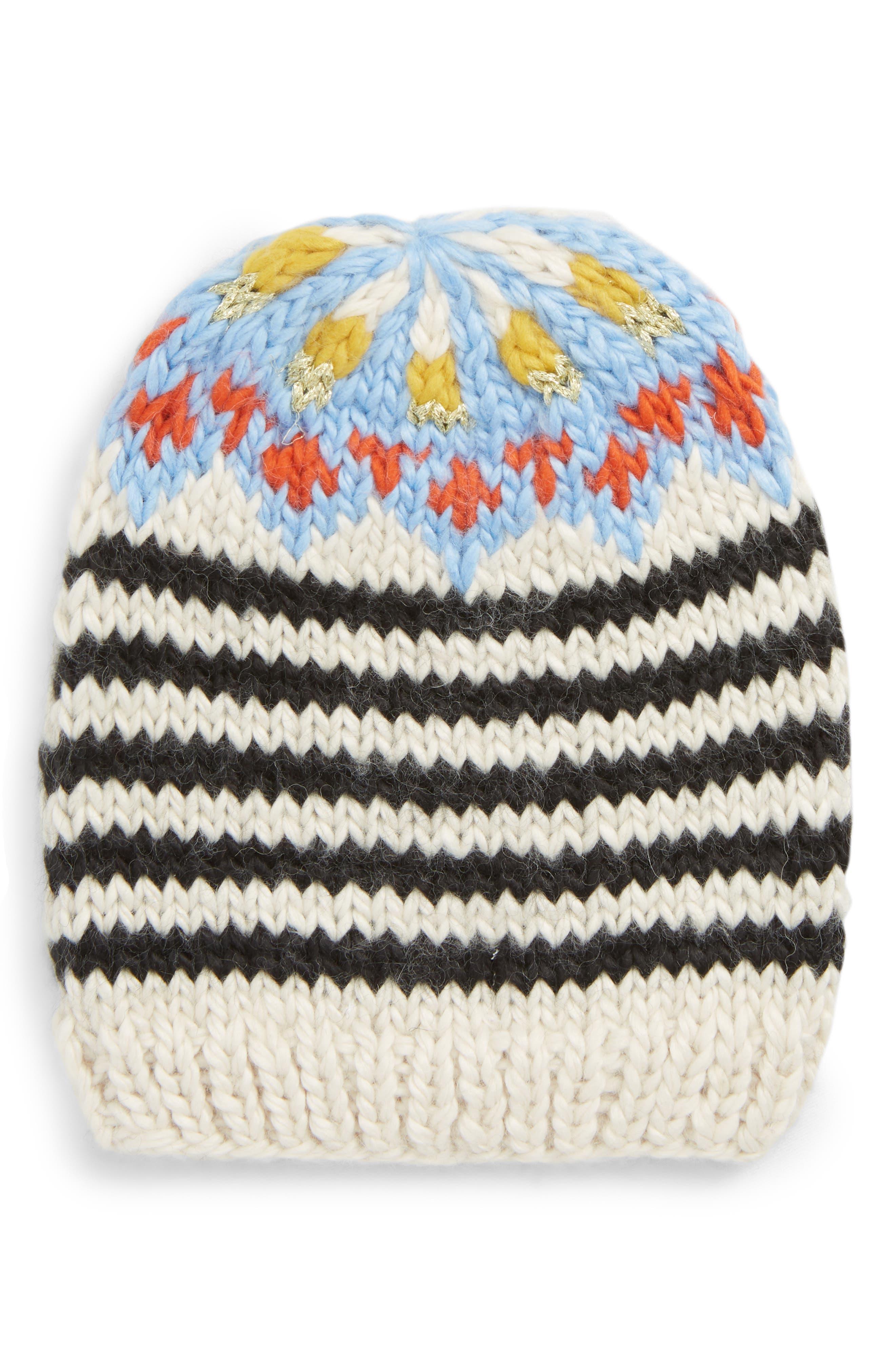 Tullamore Stripe Knit Beanie,                             Main thumbnail 1, color,                             001