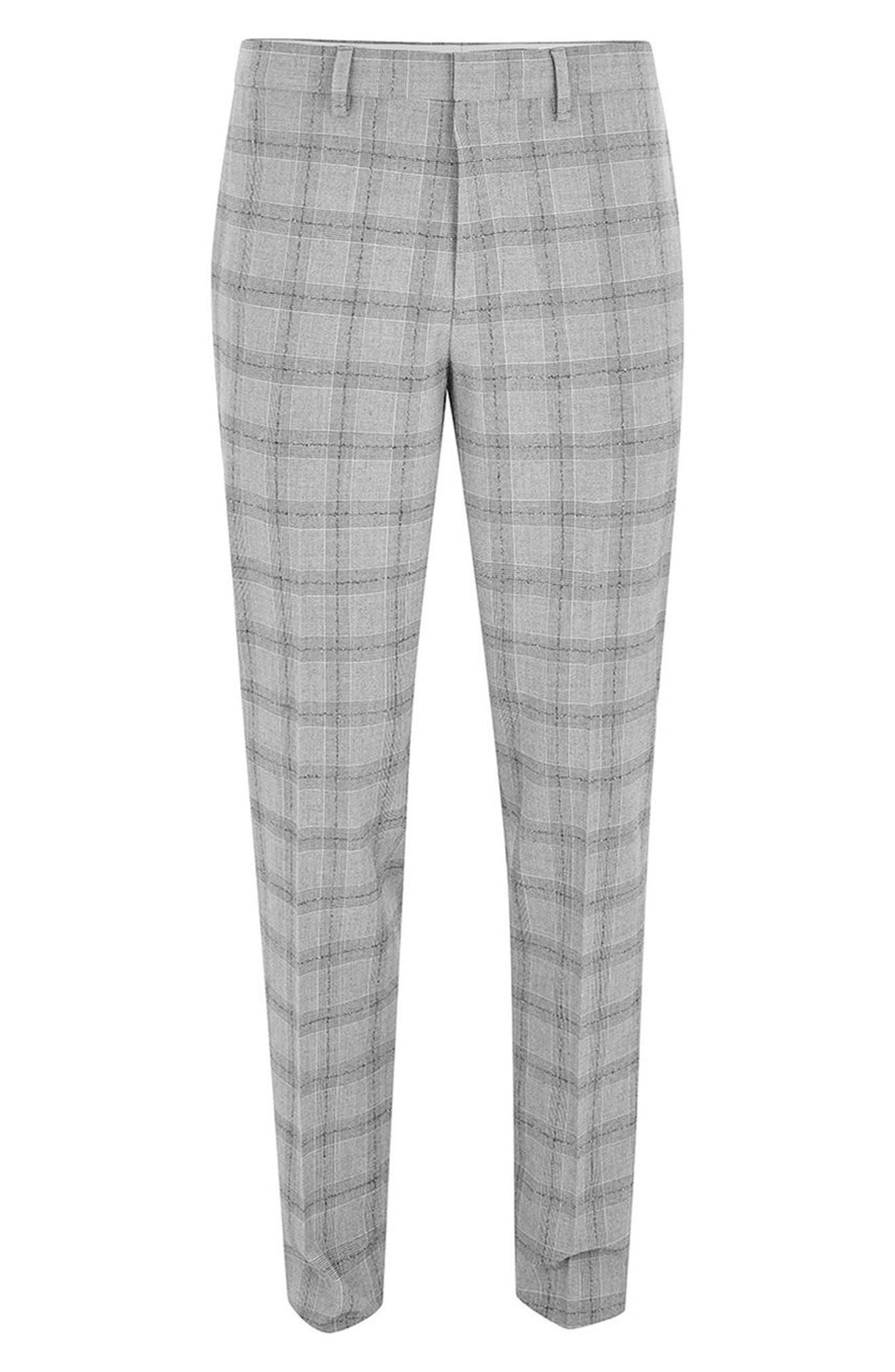 Check Suit Trousers,                             Alternate thumbnail 4, color,                             001