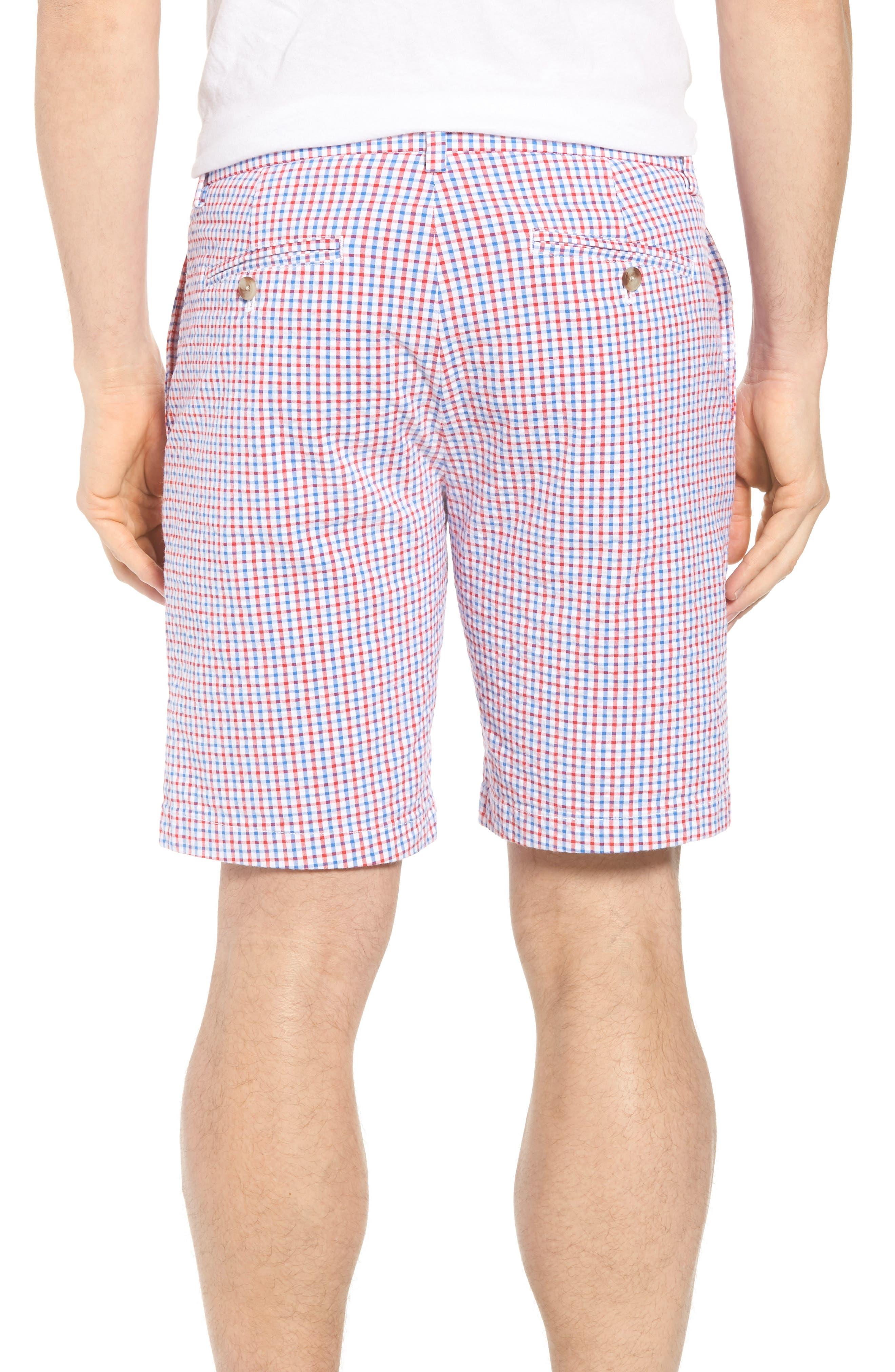 Gingham Seersucker Stretch Breaker Shorts,                             Alternate thumbnail 2, color,                             SPINNAKER