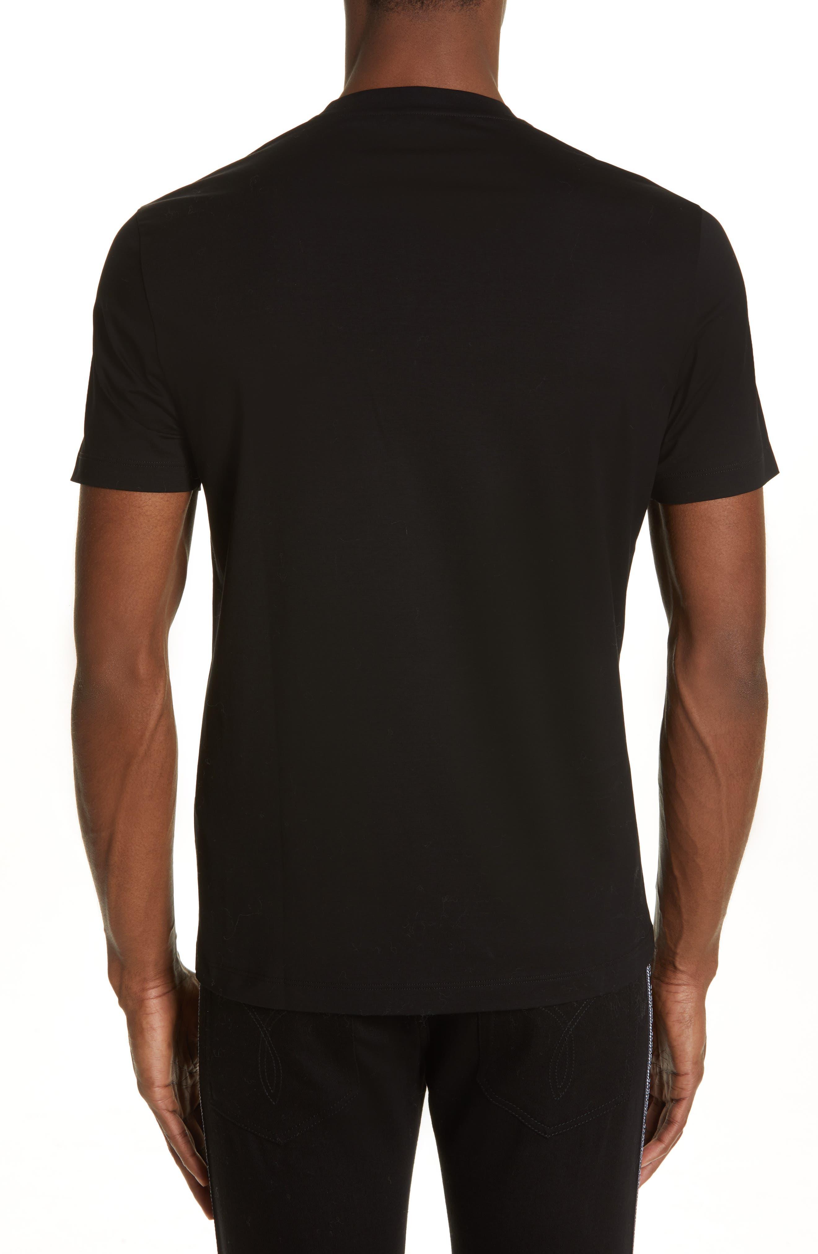 VERSACE,                             Beaded Medusa T-Shirt,                             Alternate thumbnail 2, color,                             BLACK