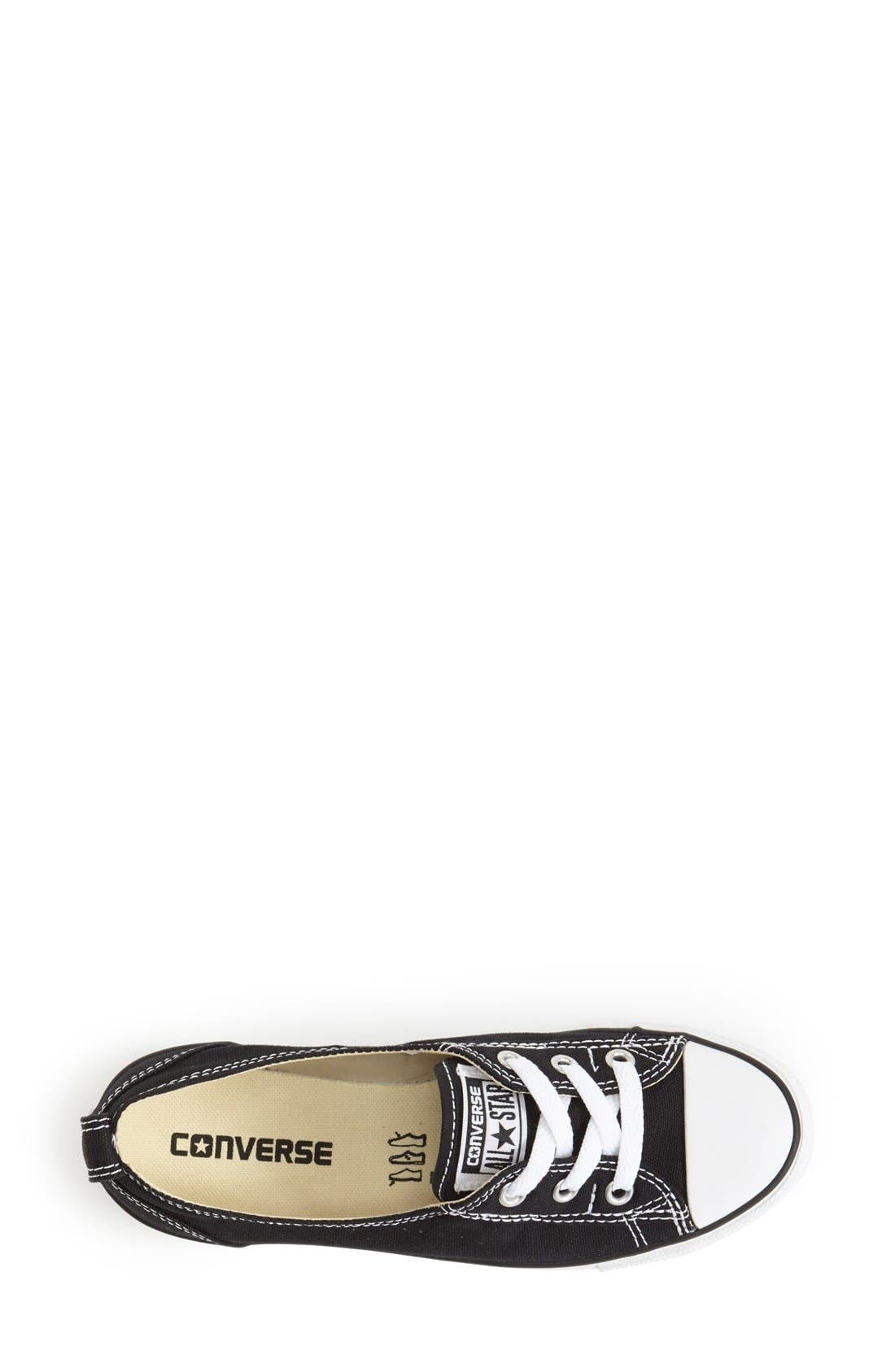 Chuck Taylor<sup>®</sup> All Star<sup>®</sup> Ballet Canvas Sneaker,                             Alternate thumbnail 5, color,                             001