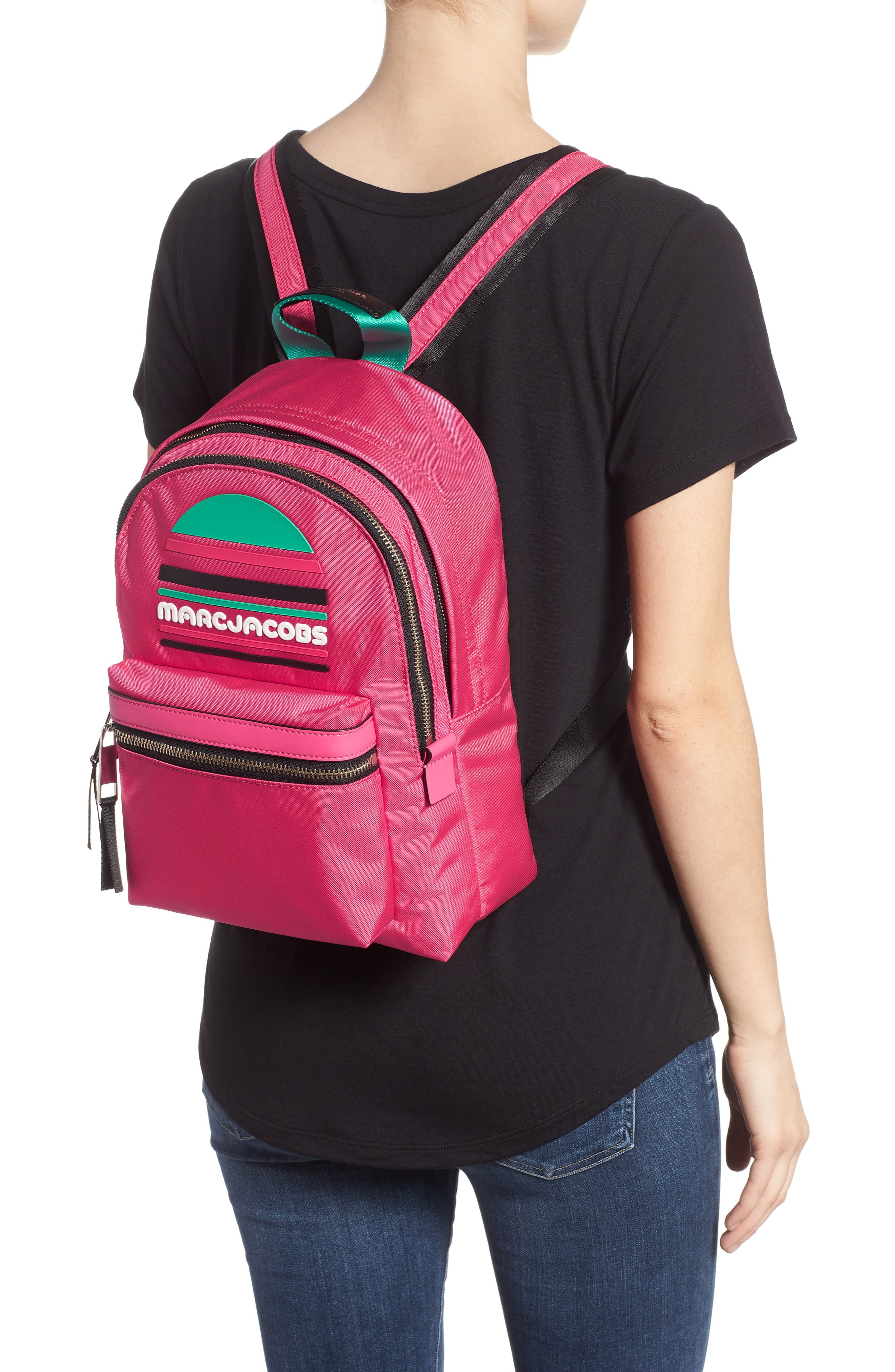 Medium Sport Trek Backpack,                             Alternate thumbnail 2, color,                             PEONY