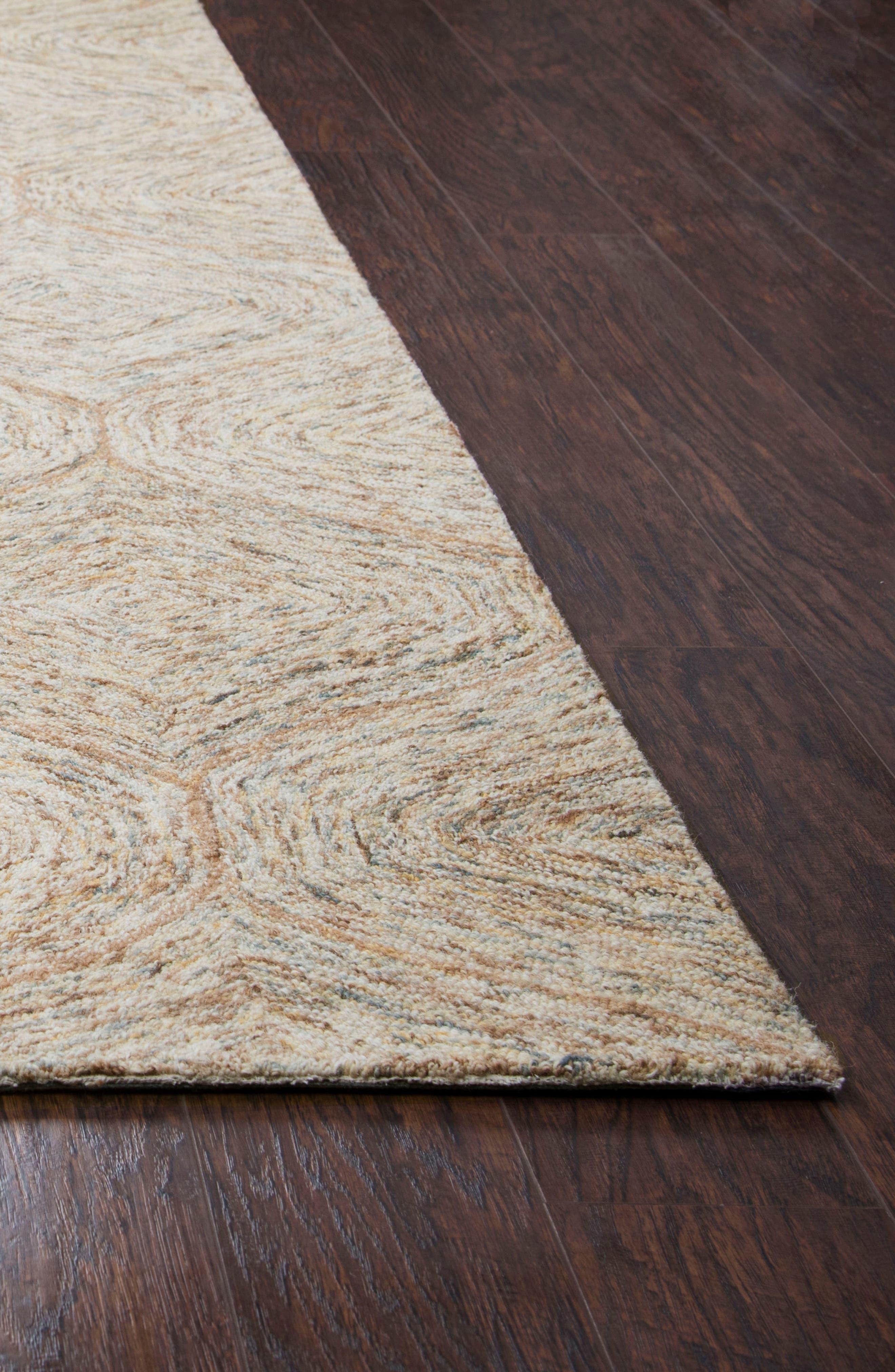 Irregular Diamond Hand Tufted Wool Area Rug,                             Alternate thumbnail 4, color,                             200